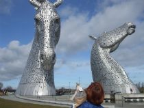The impressive Kelpies!