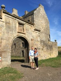 Linda & Jim at Lallybroch-doesn't get any better!