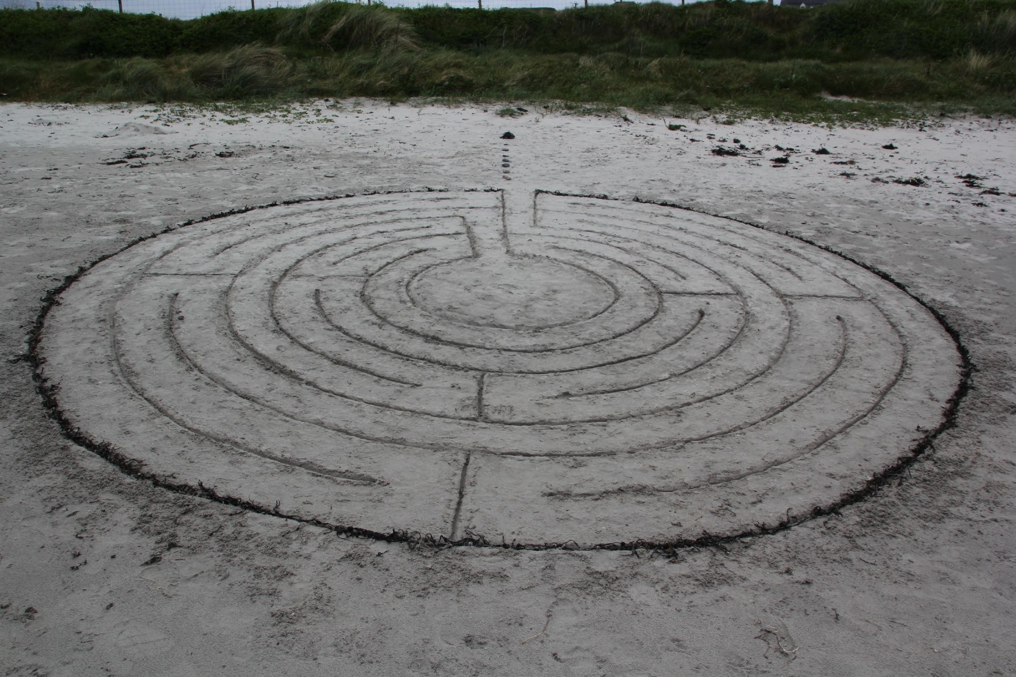 Labrynth in San - Iona