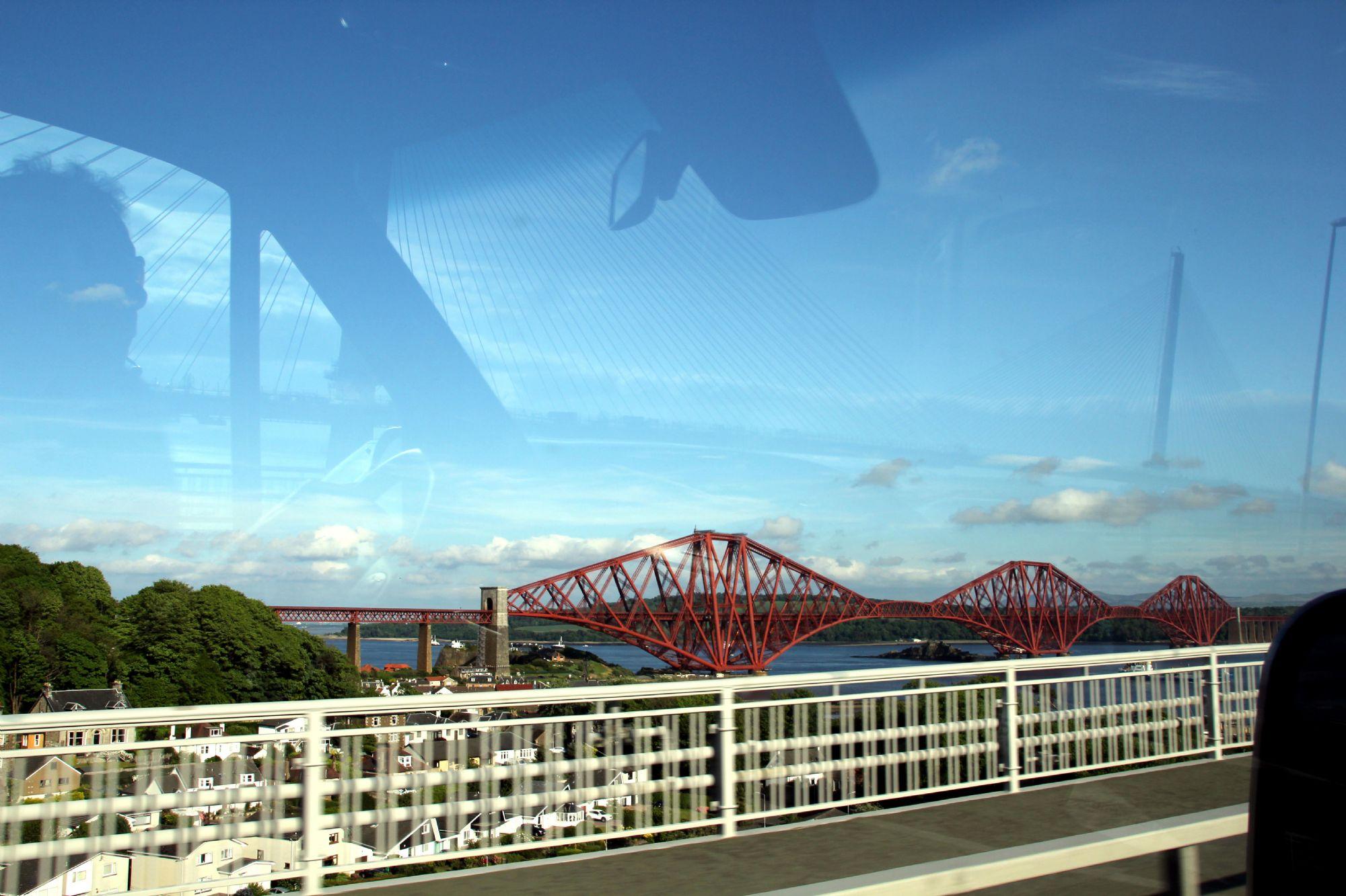 Artistic shot of Forth Bridge