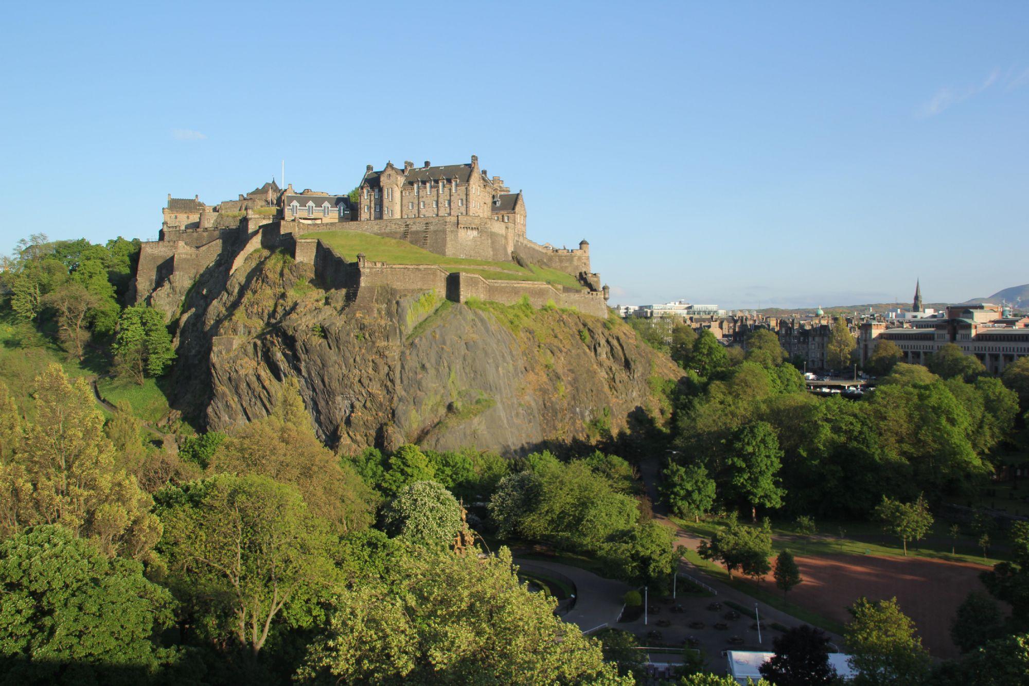 Edinburgh Castle at eventide