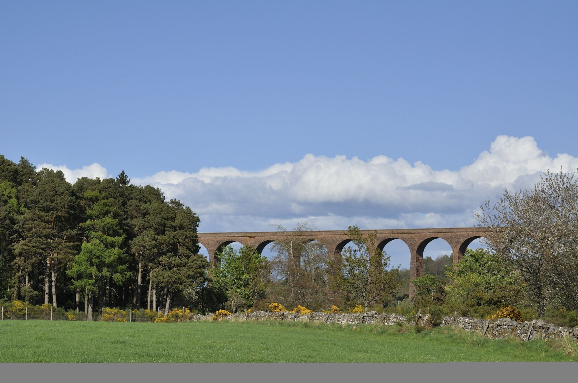 Culloden Viaduct at distance
