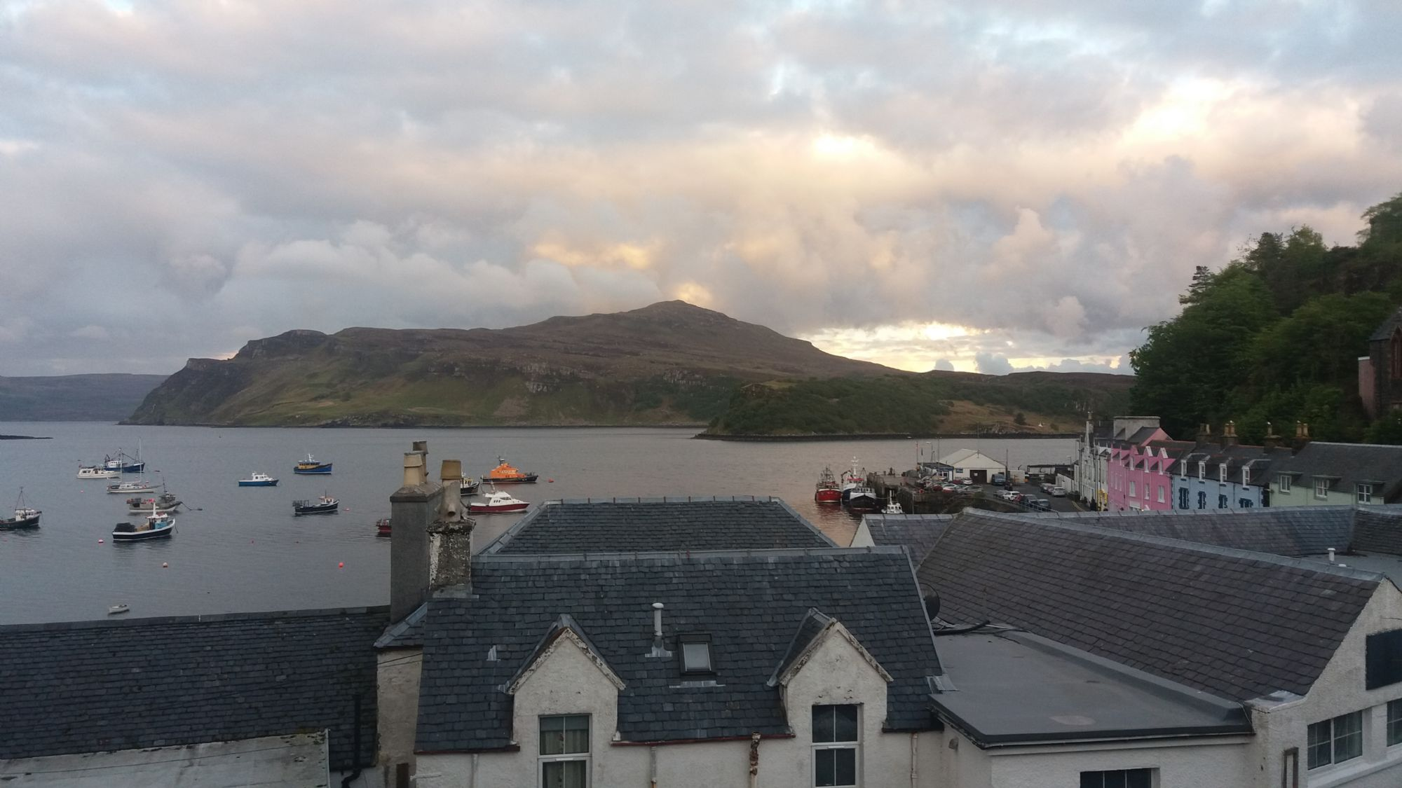 Sunset in Portree