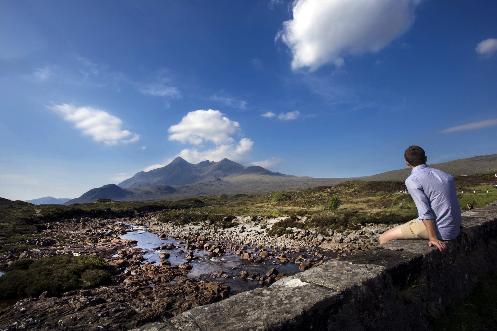 A traveler with Cuillin