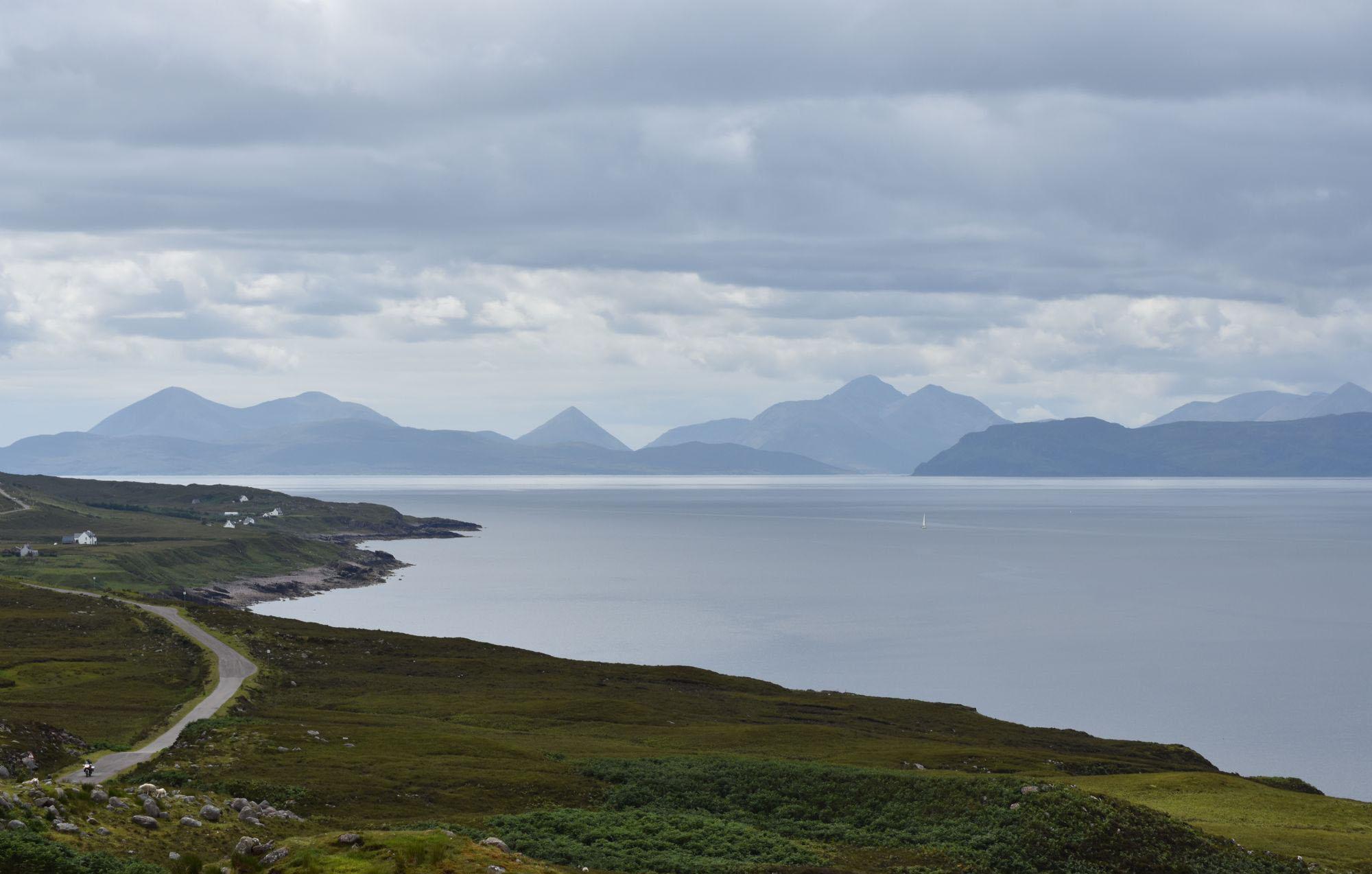Isle of Skye on the horizon