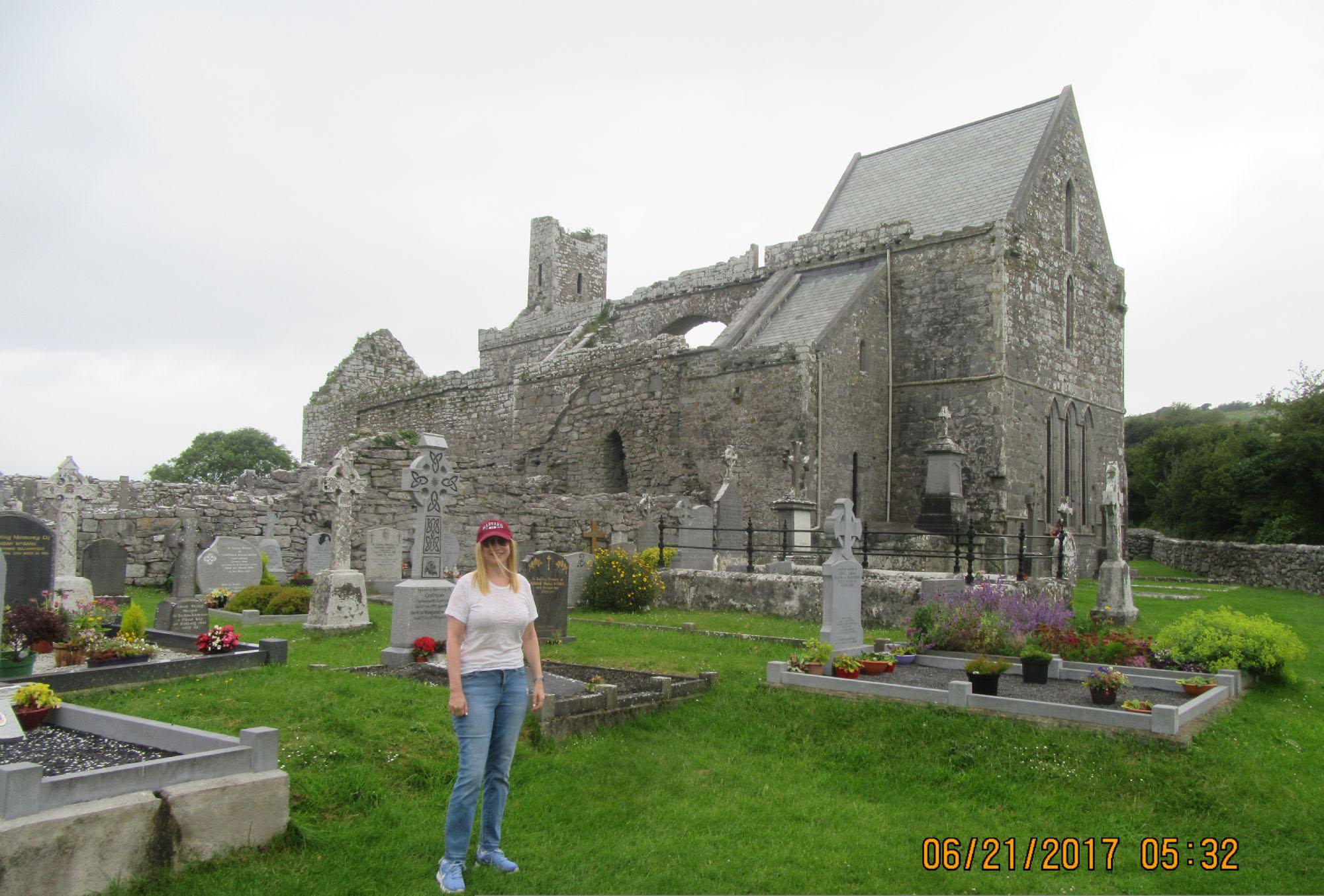Lynne at Corcomroe Abbey