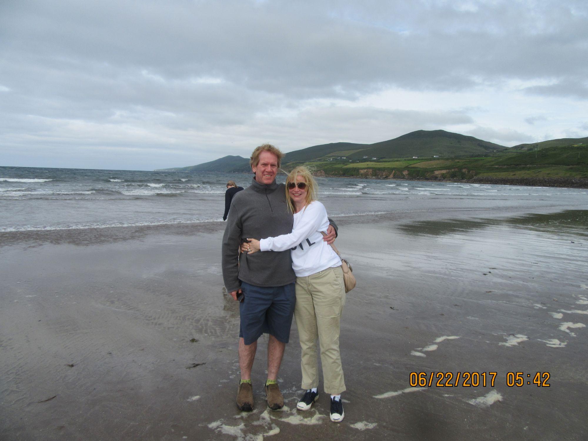 Us on beach, Dingle Peninsula