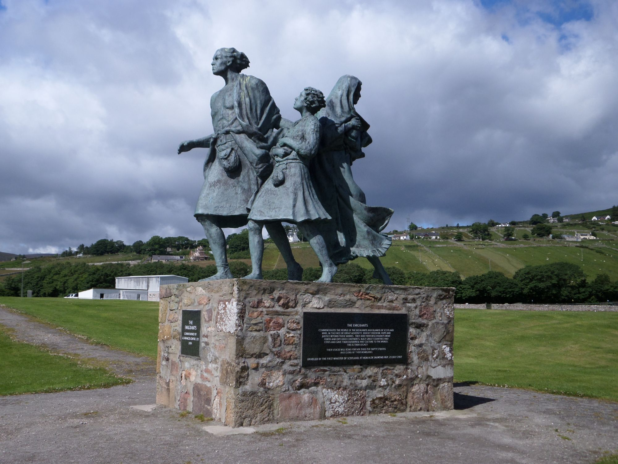 Emmigrants Monument. Helmsdale