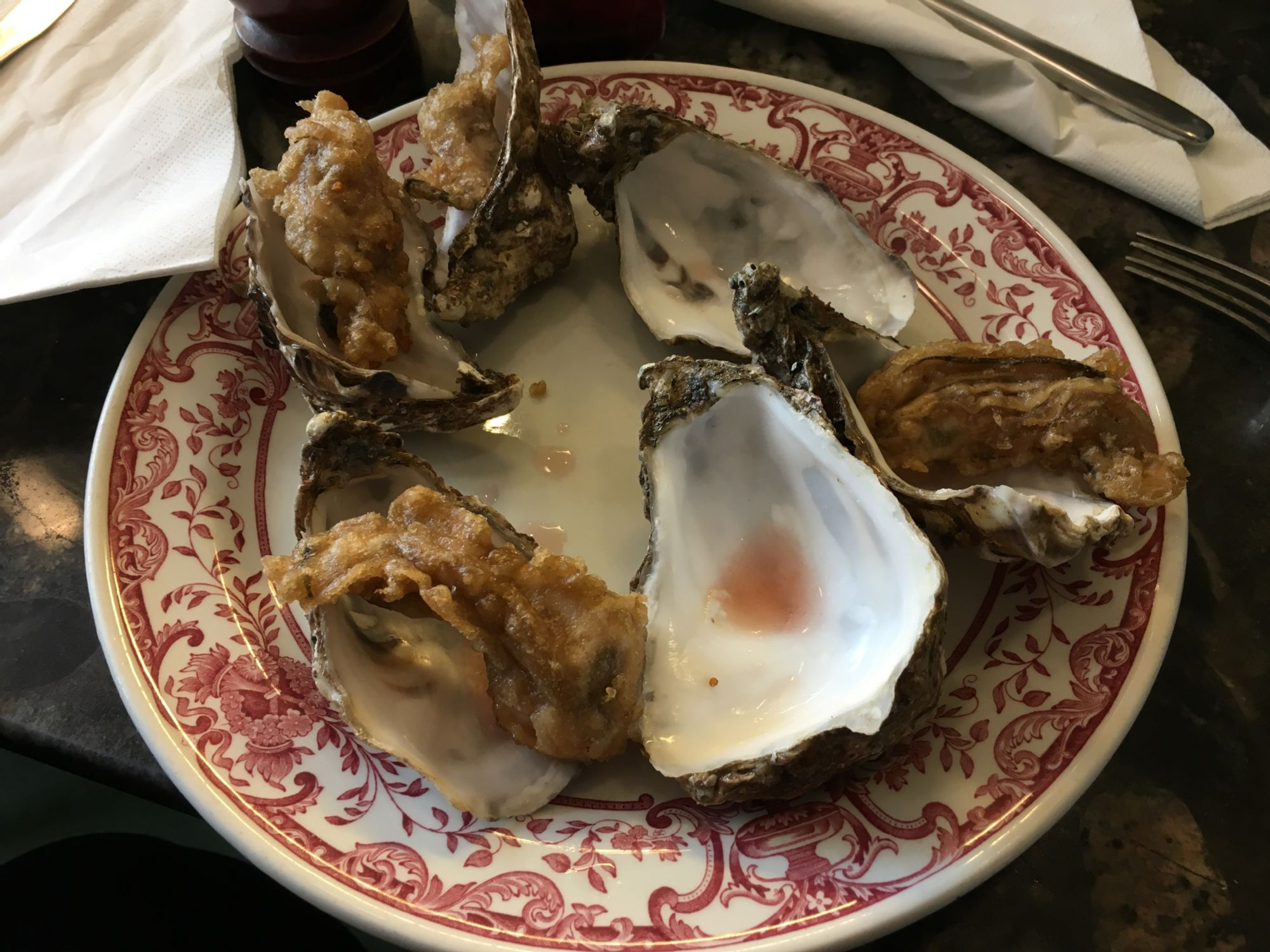Amazing Whitstable oysters