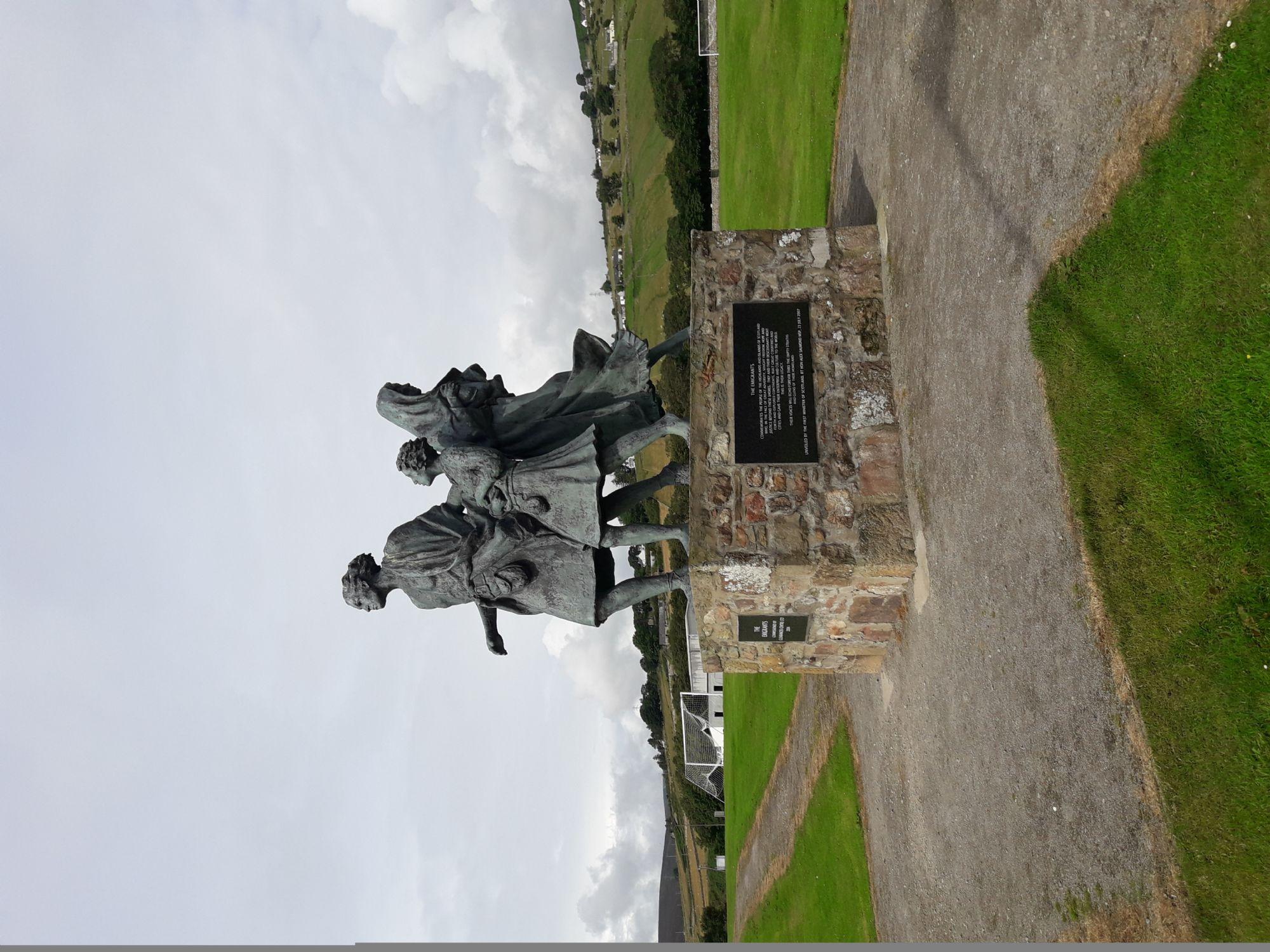 Emigrants monument, Helmsdale