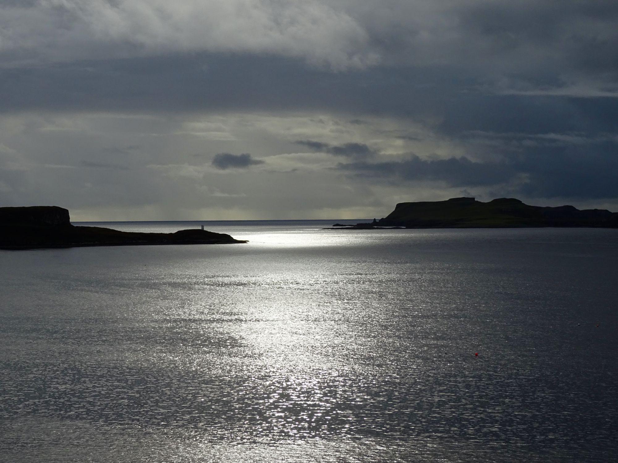 The sun kisses the sea