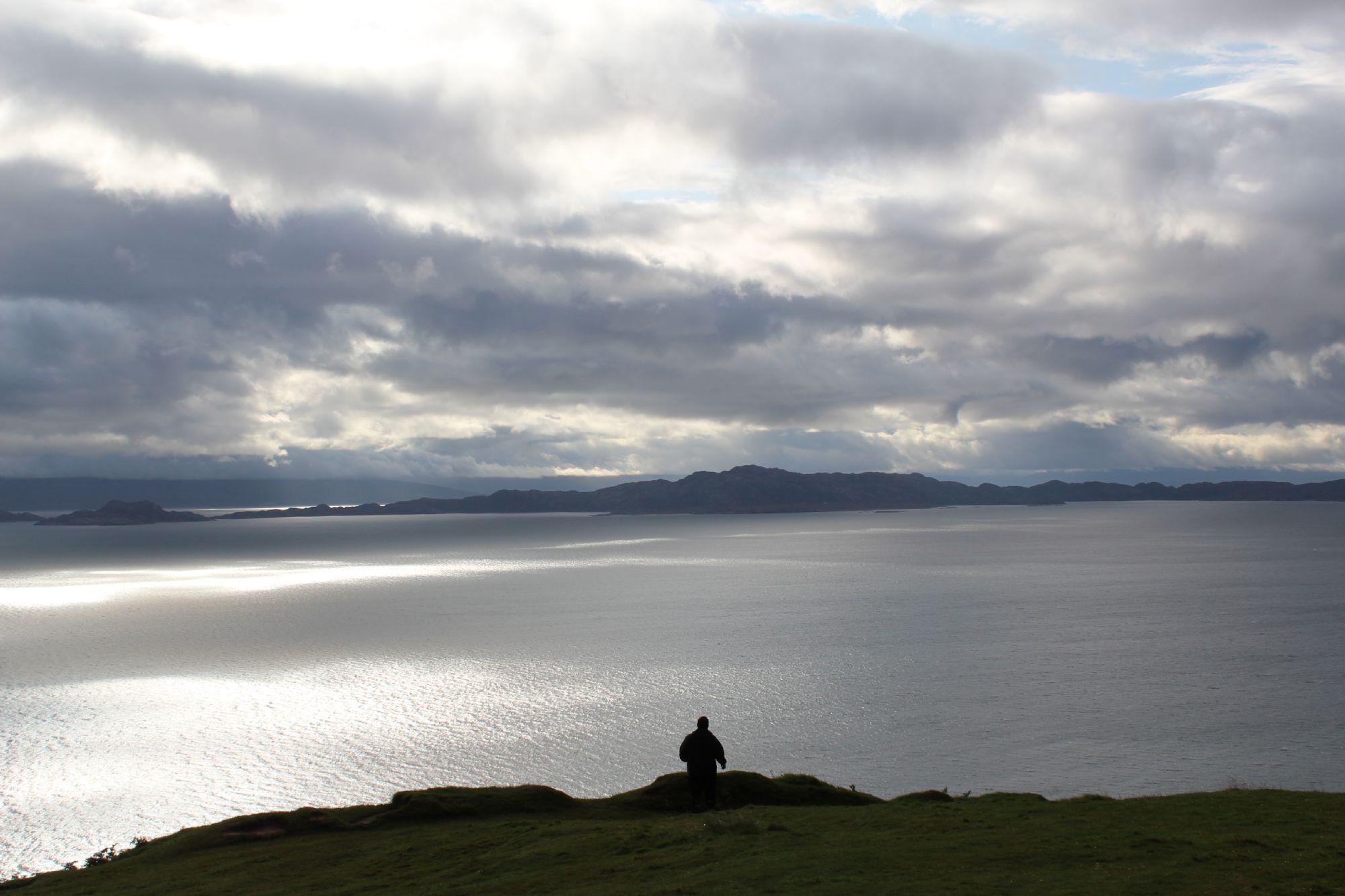 Dev exploring the Highlands