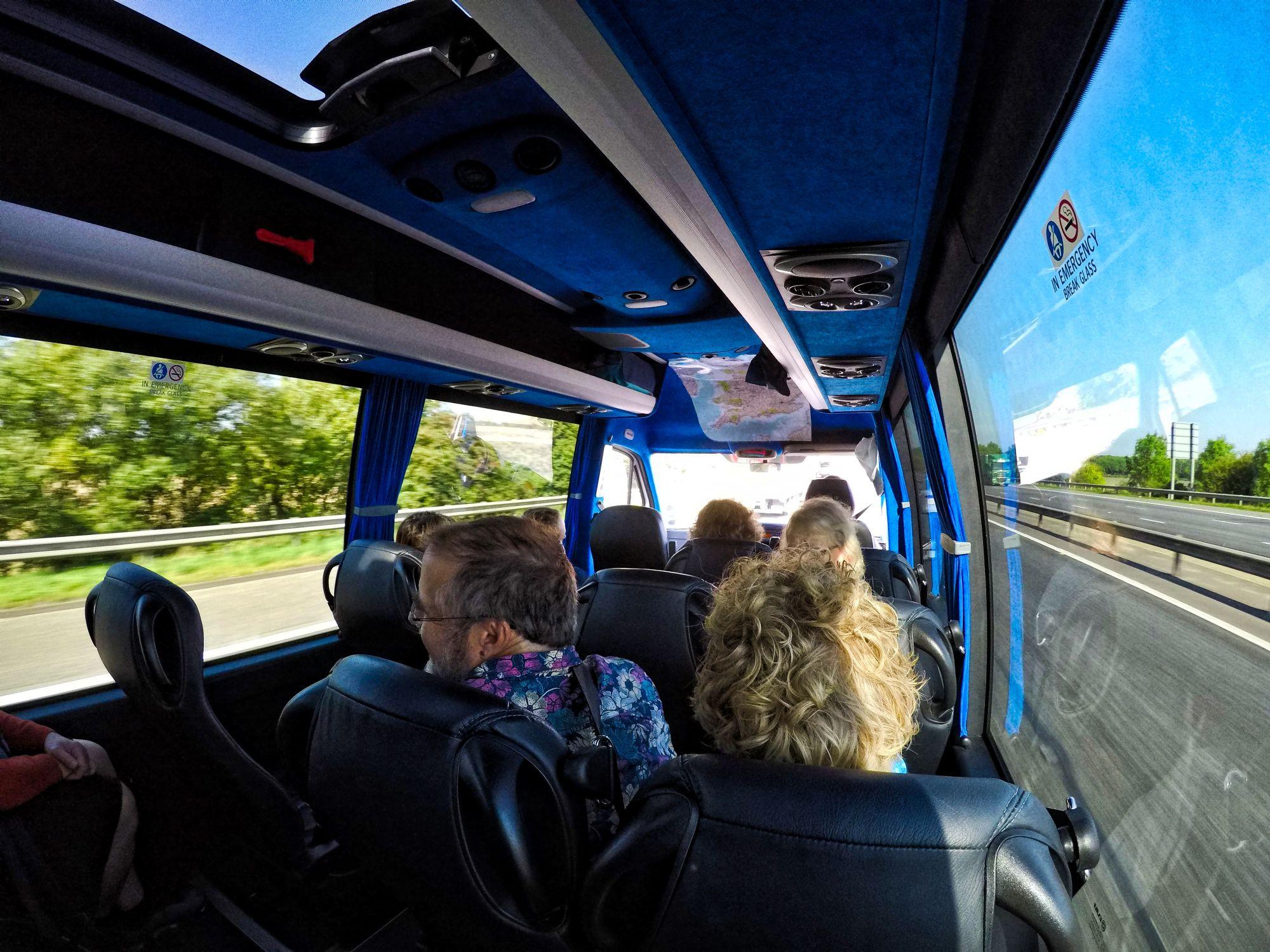 Away we go on the fun bus ...