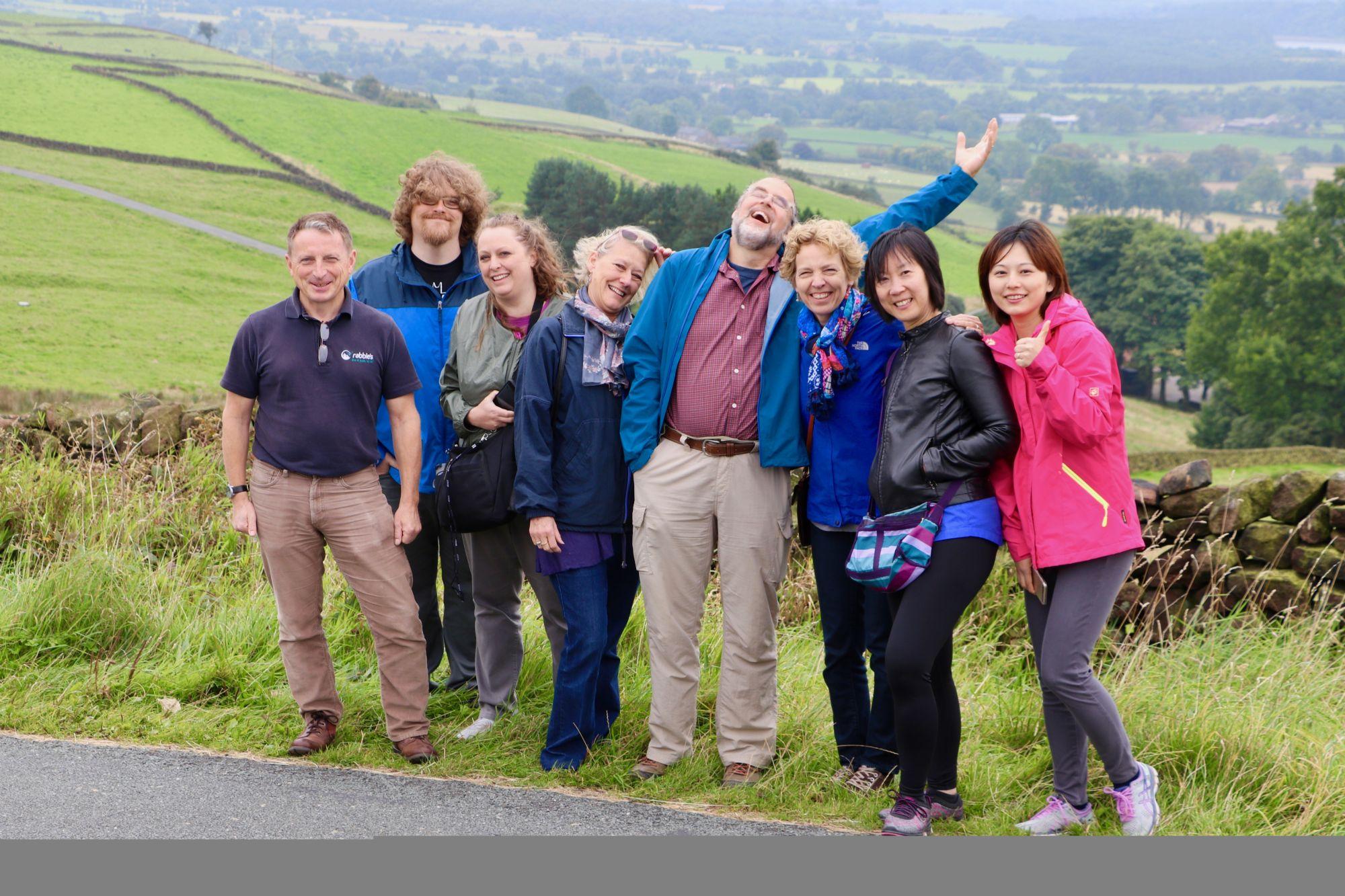Peak District group photo