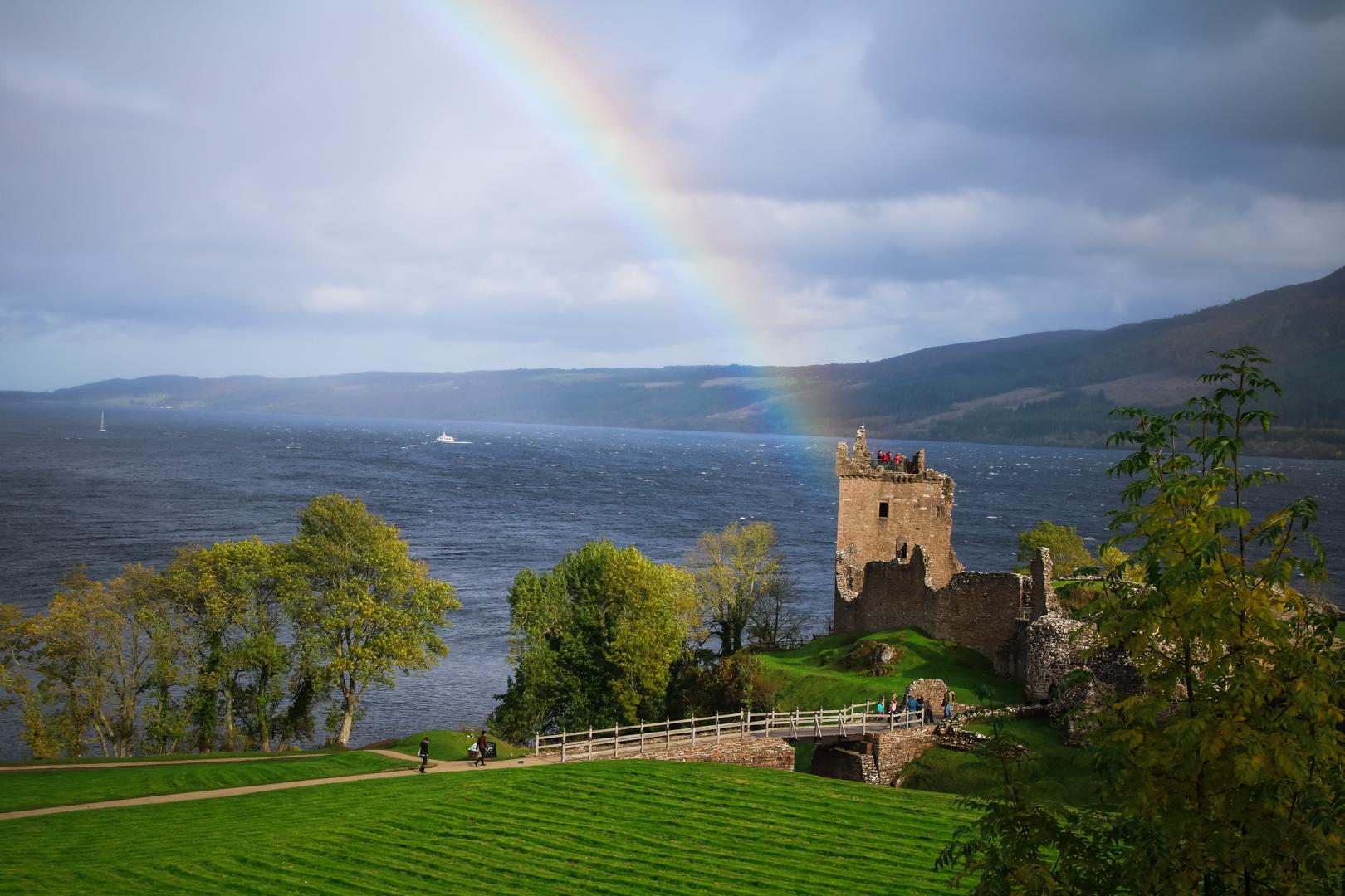 Rainbow at Urquhart Castle