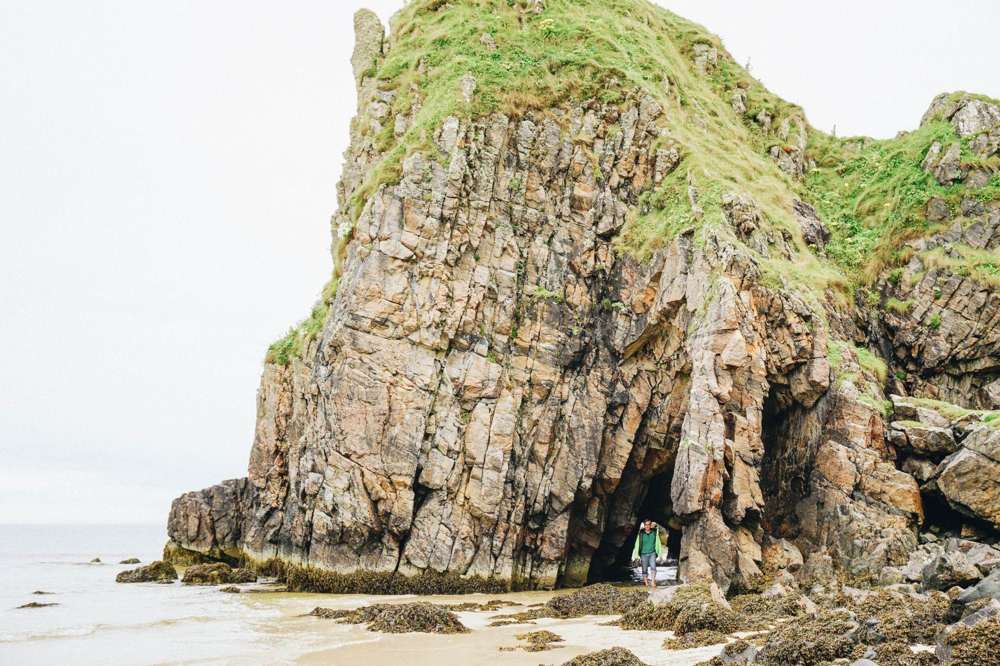 Sea stacks and caves at Tolsta