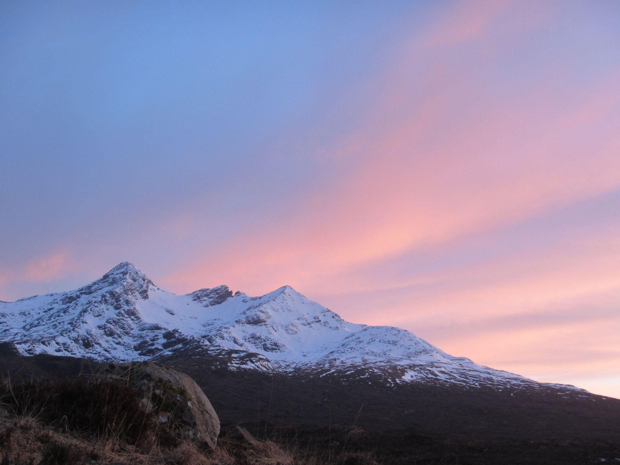 Sunset on Cullins