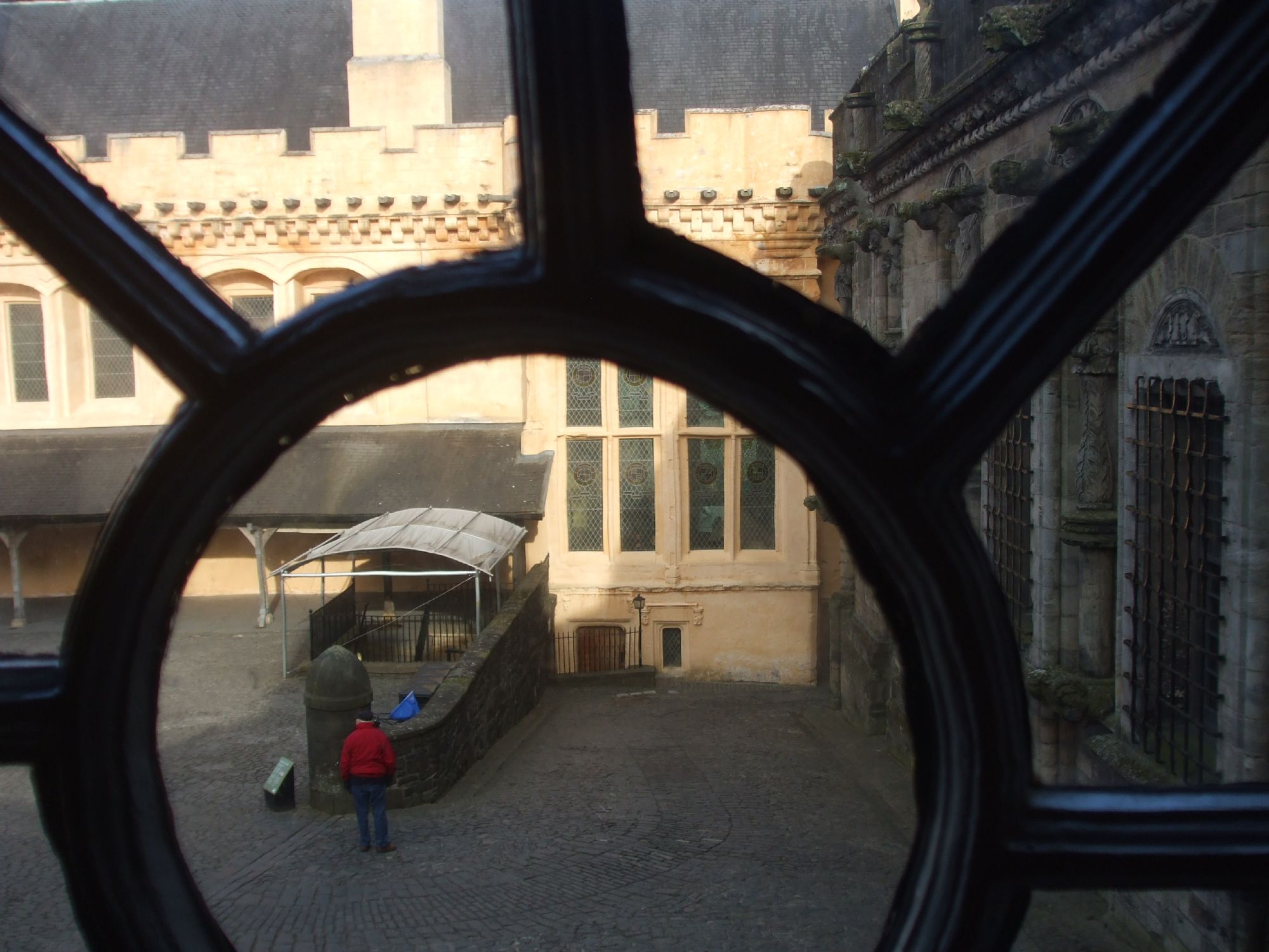 Looking at courtyard