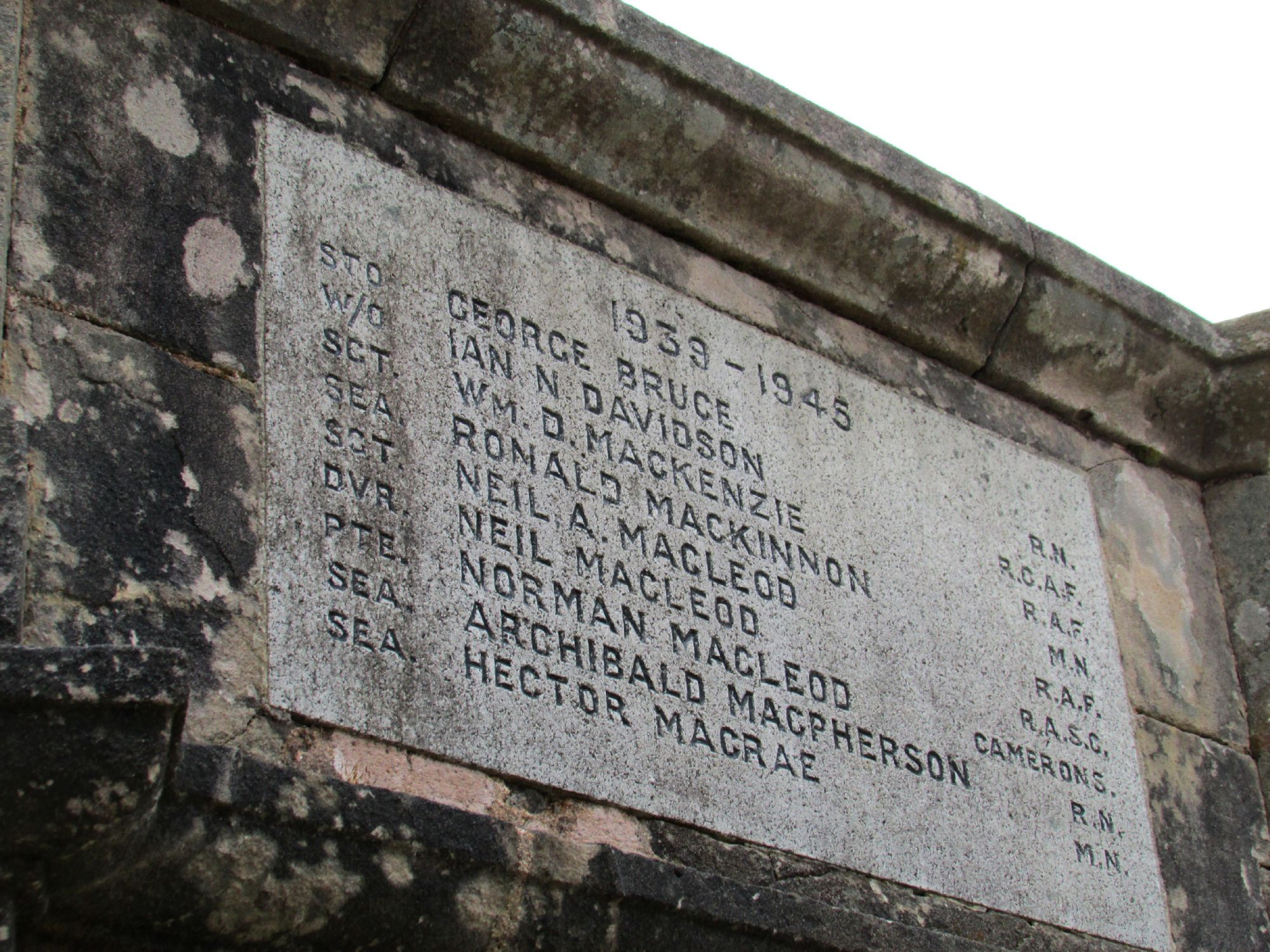 WWII memorial in Portree
