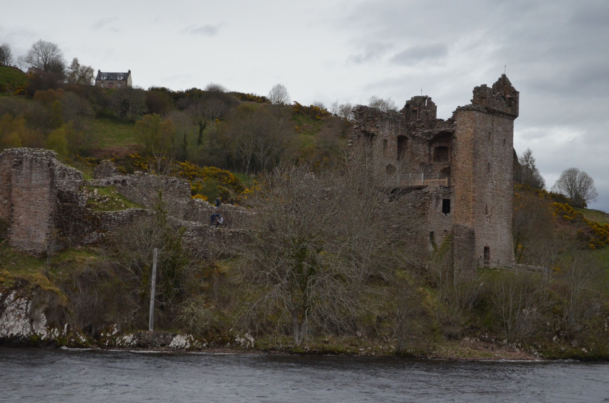 Uruquart Castle from Loch Ness