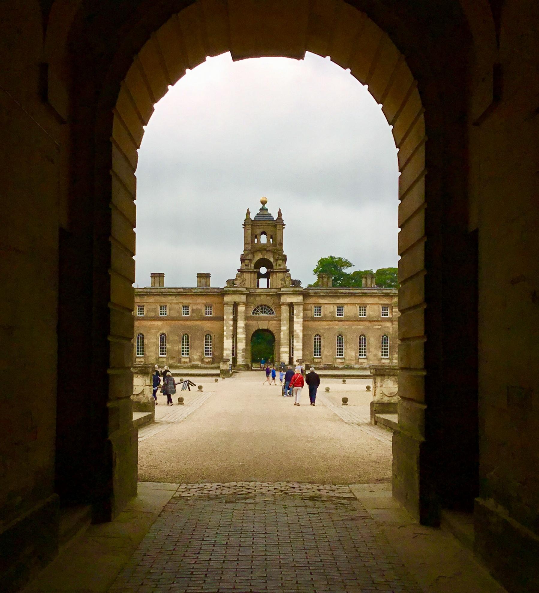 First sight of Blenheim Palace