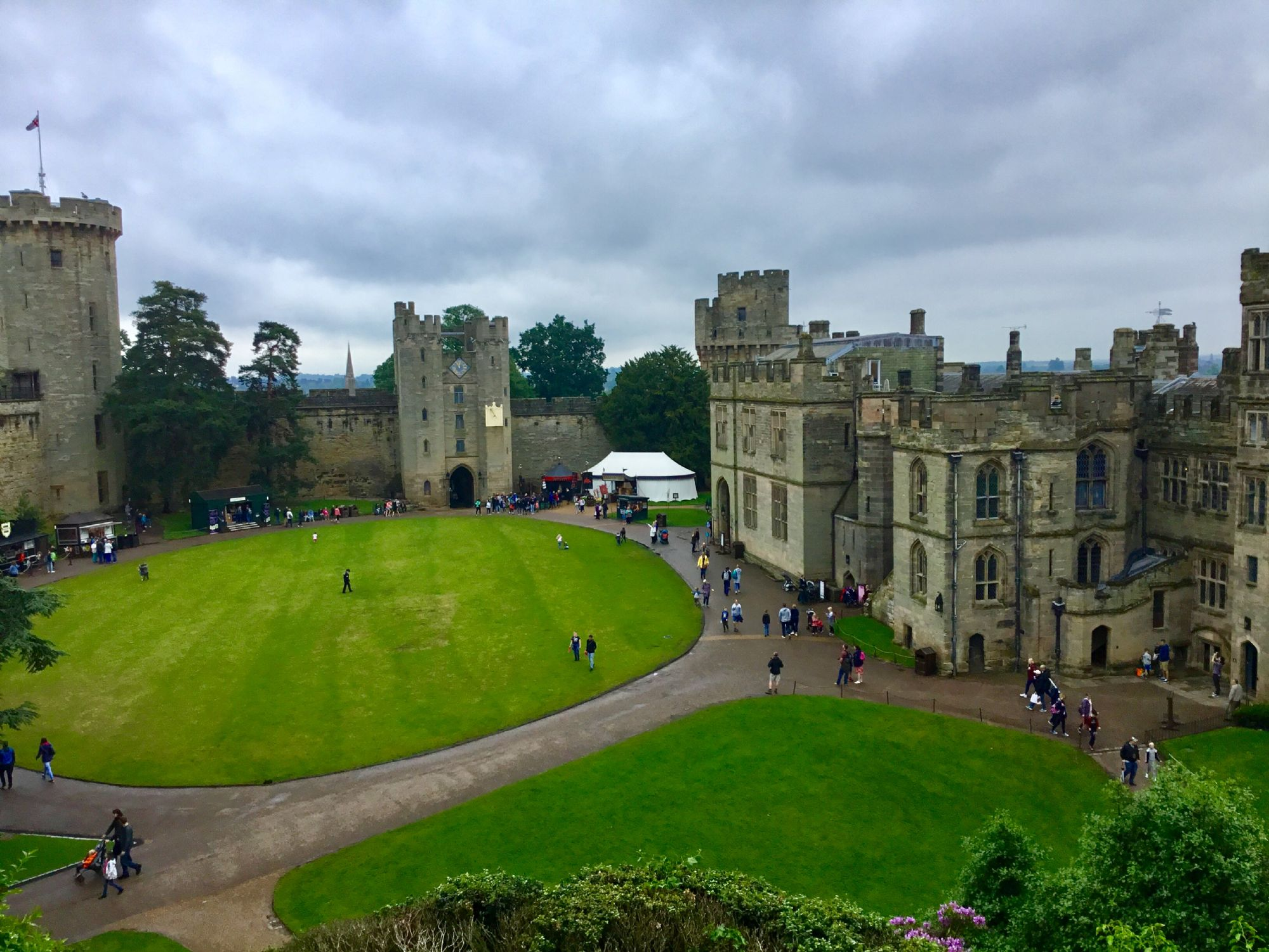 Warwick Castle as seen from th