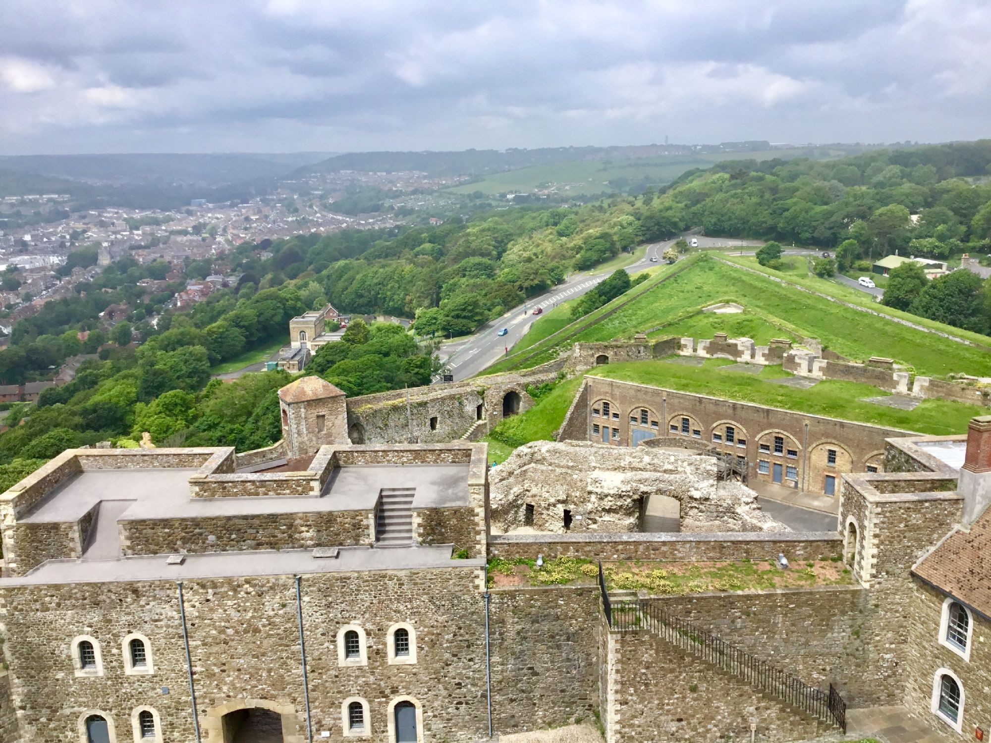 View from Dover Castle tower