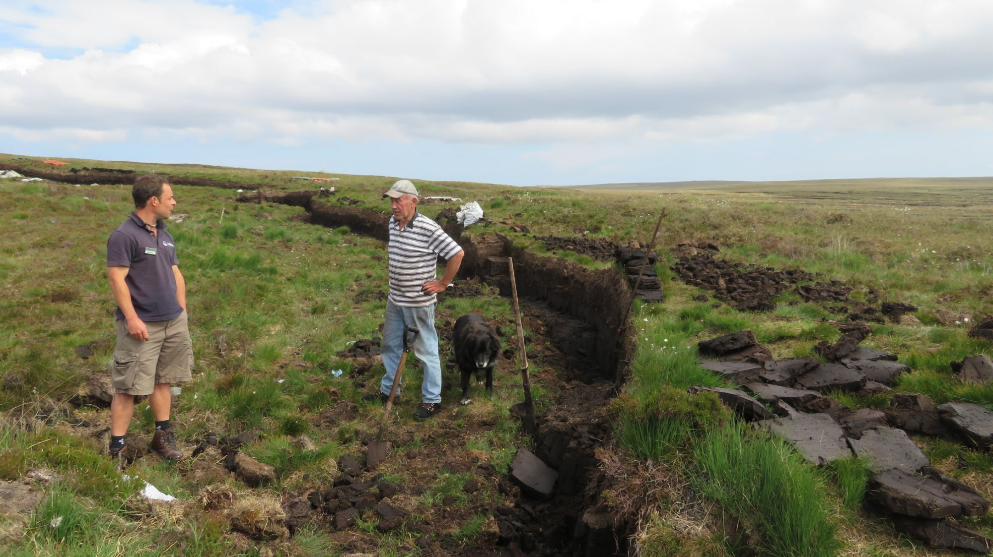 A lesson in Peat Cutting!