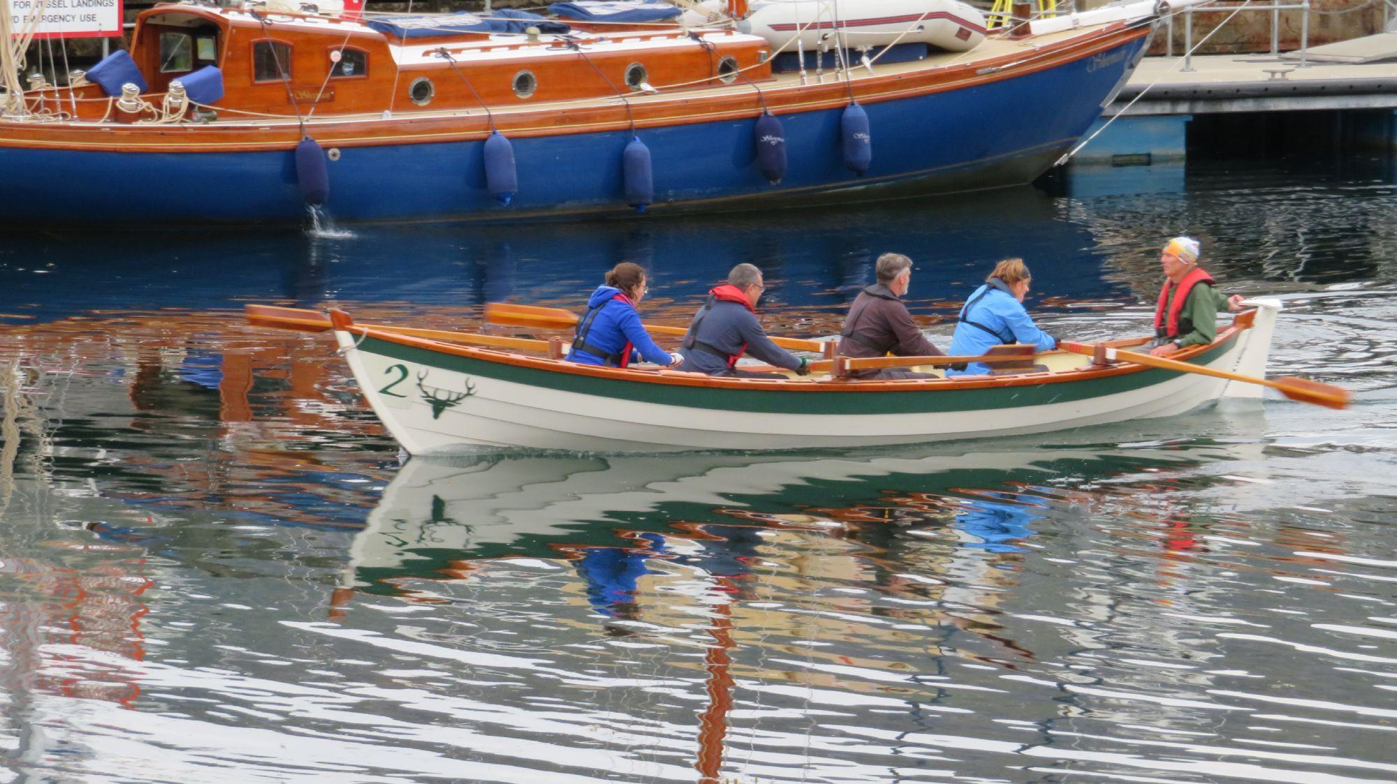 Rowers Ullapool Harbour.