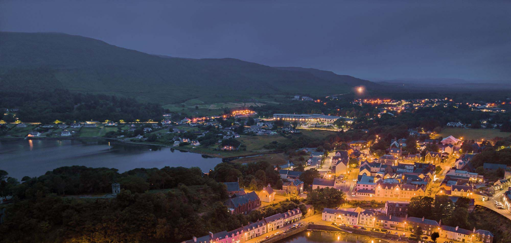Portree by night