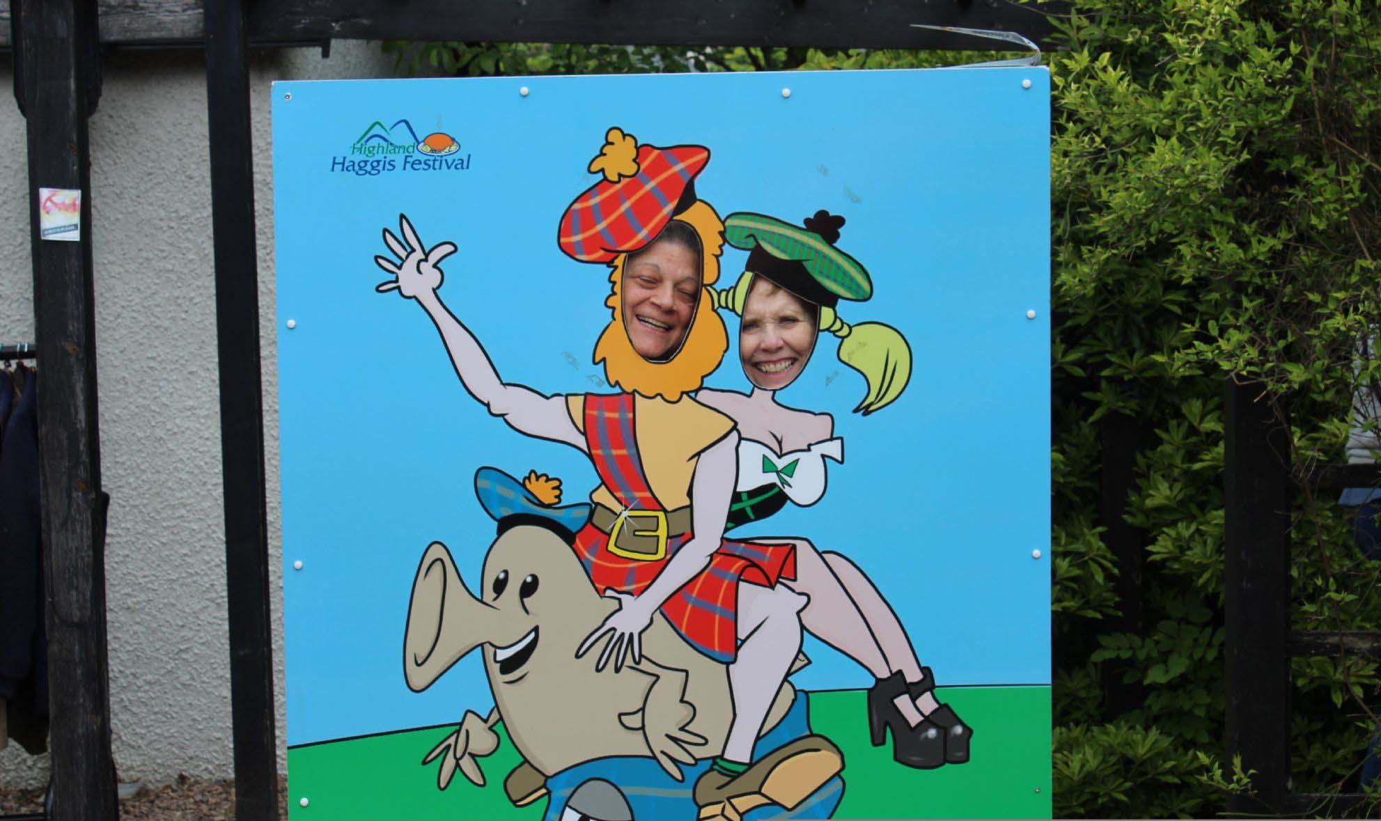Two goofy tourists