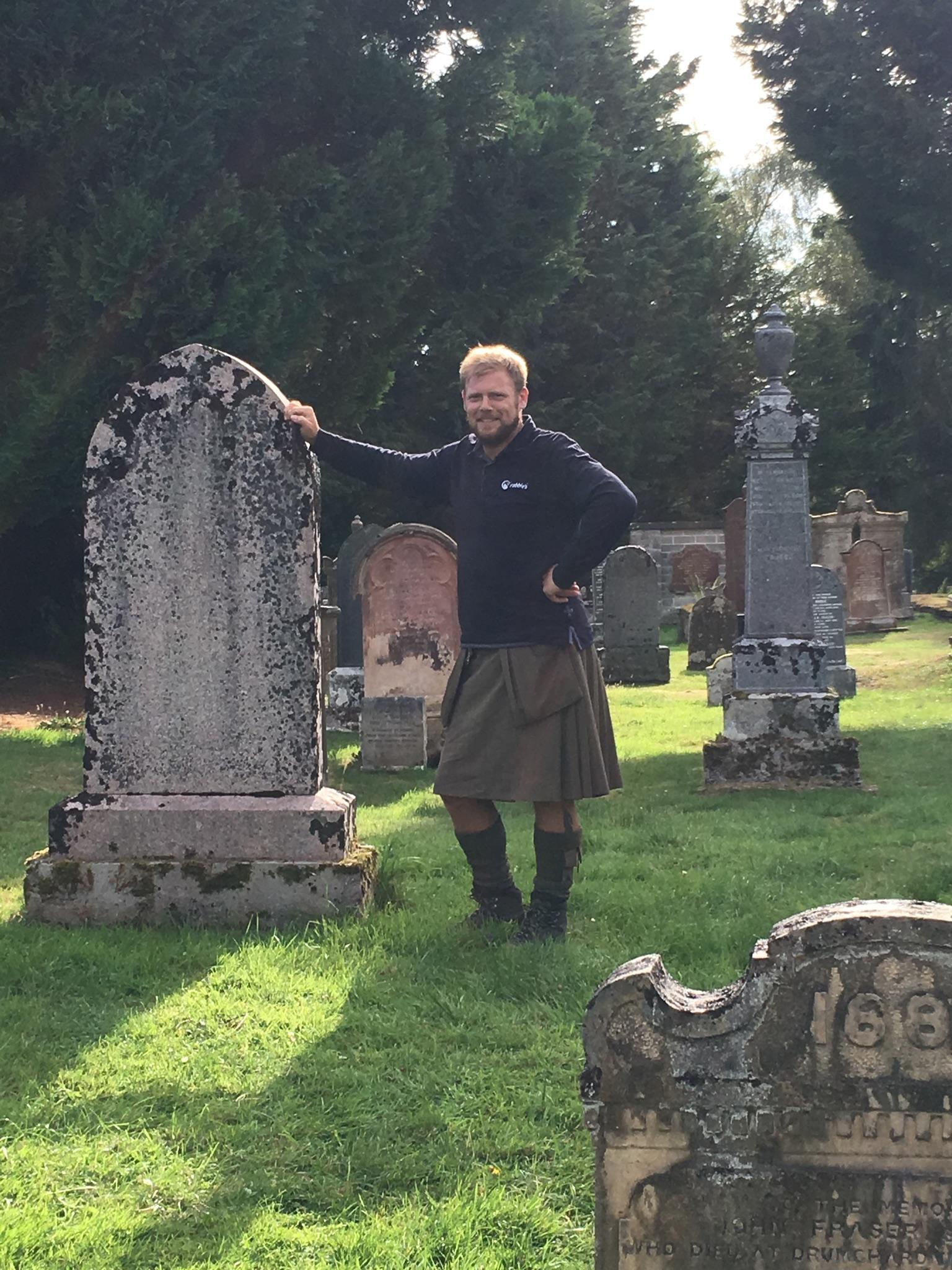 Nicky O at the MacKenzie cemetery
