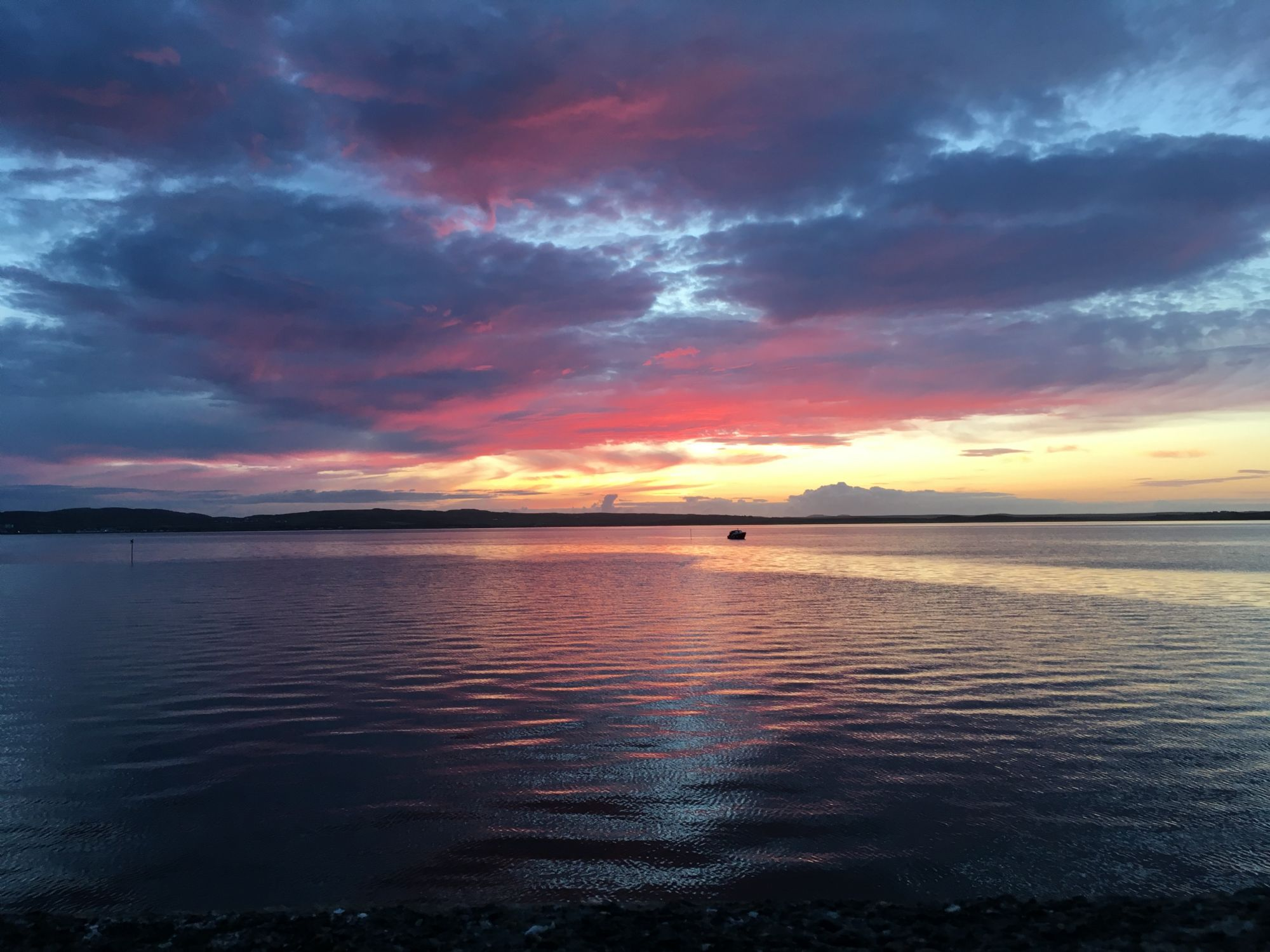Sunset in Bowmore
