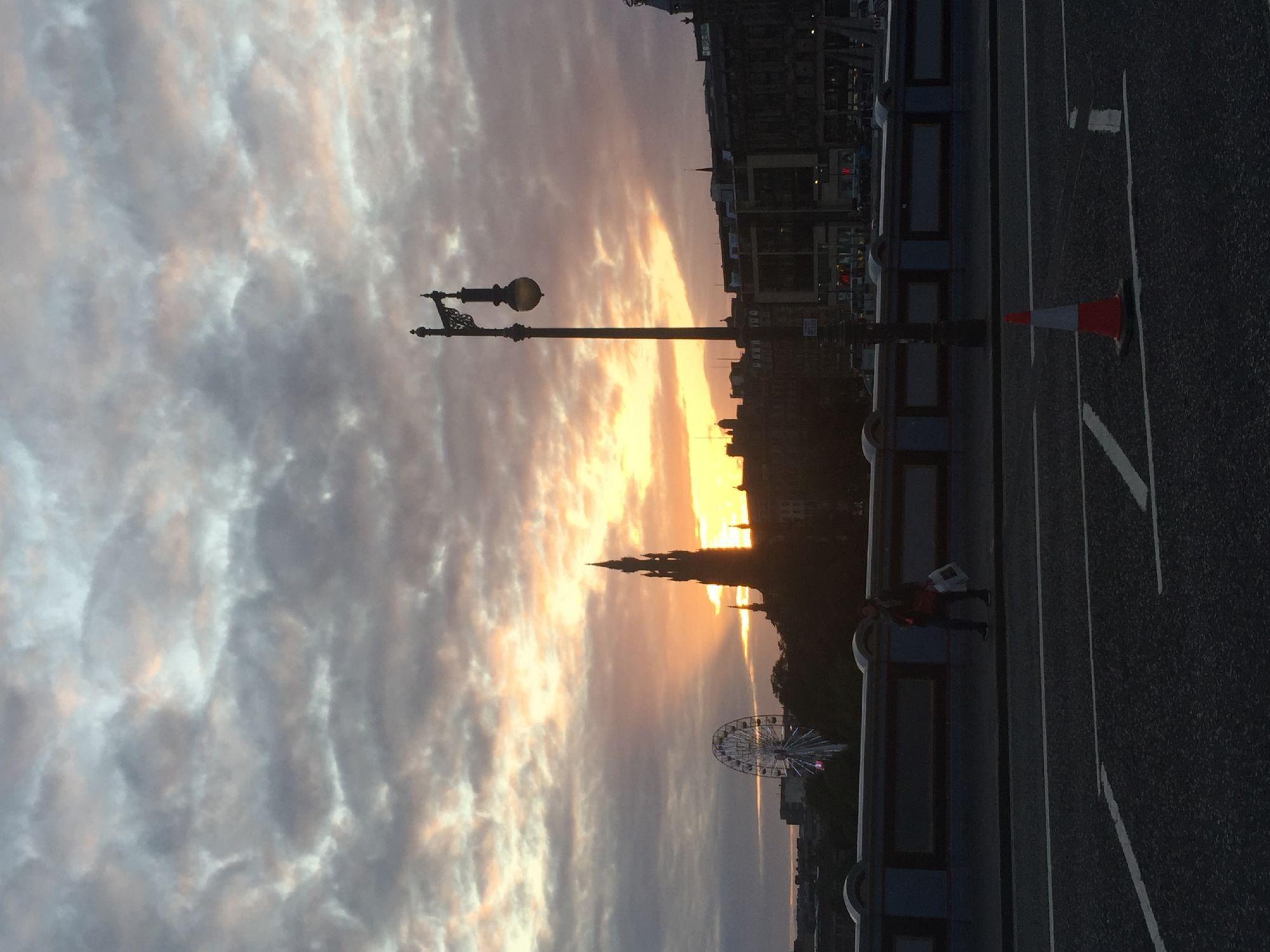 Sunset in Edinburgh