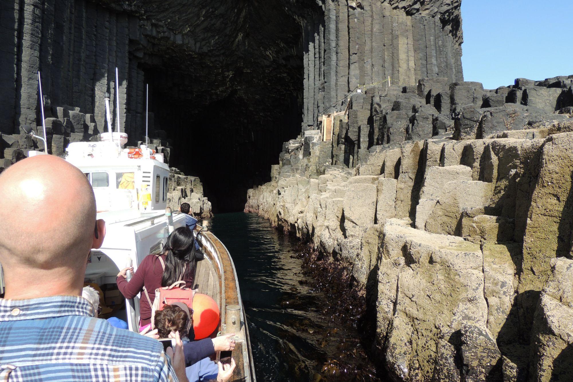 Into Fingals Cave