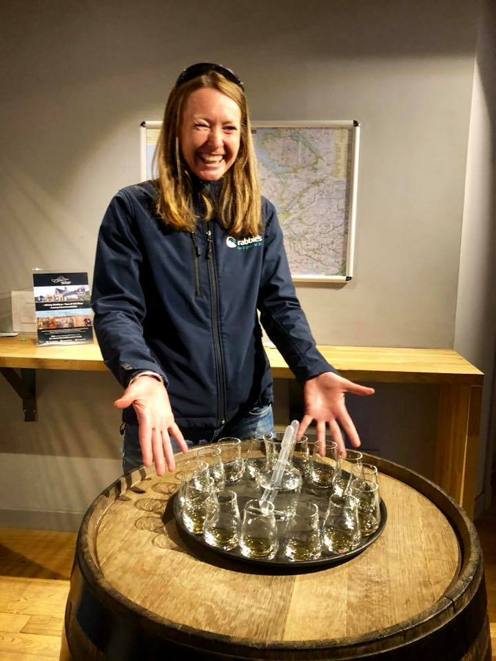 Heather doing a whisky tasting