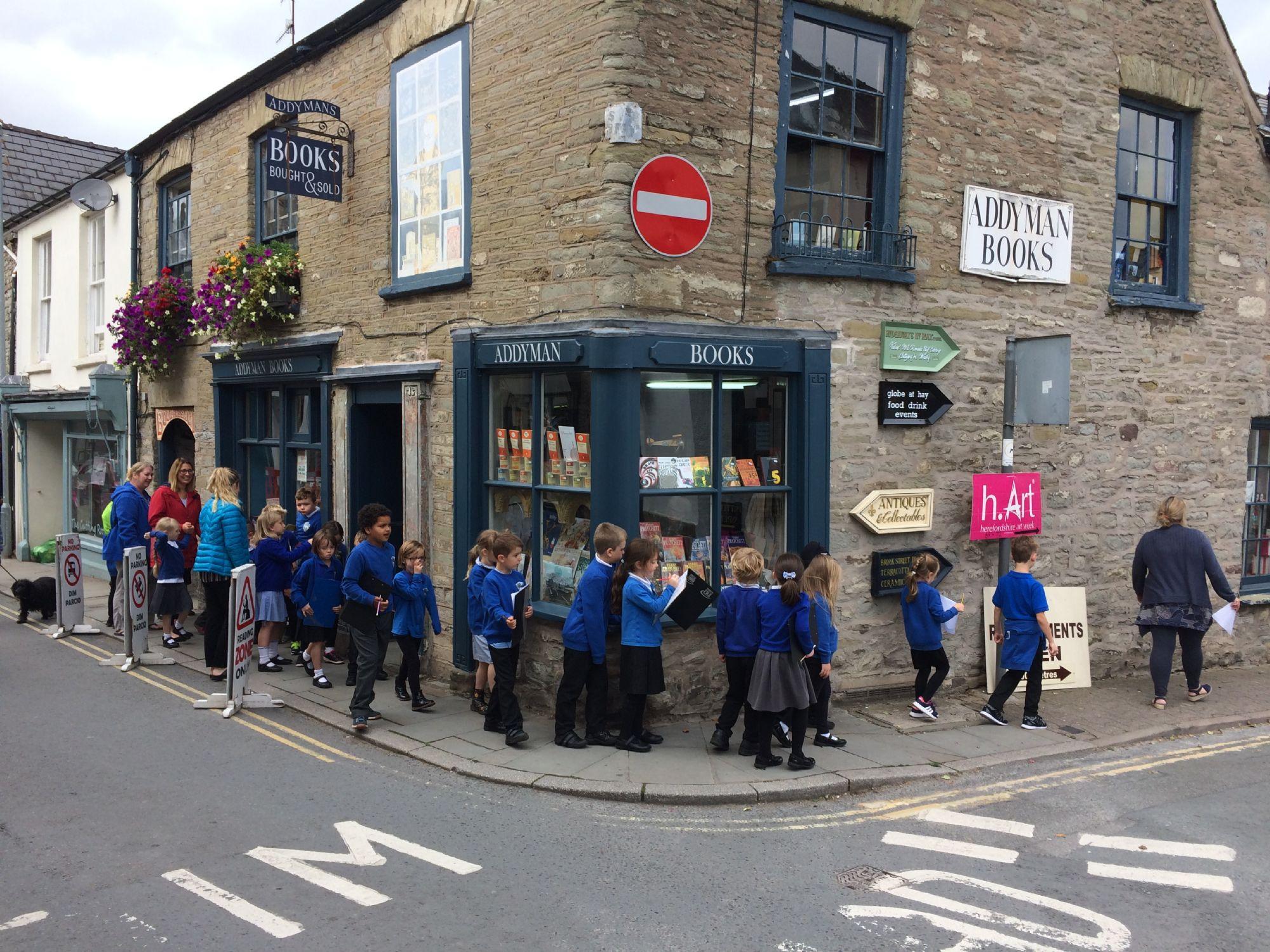 School children, Hay on Wye