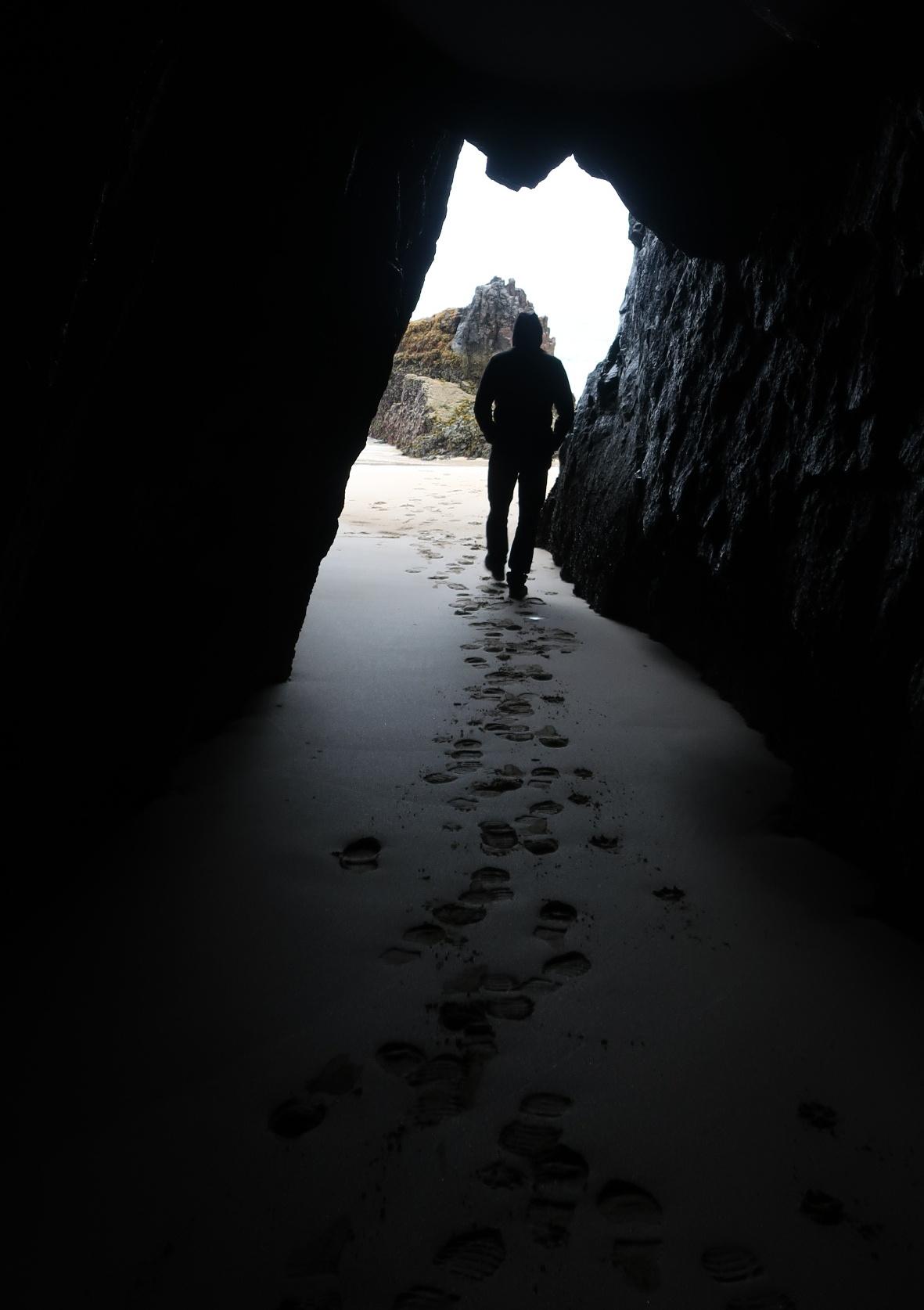 Caverns at low tide
