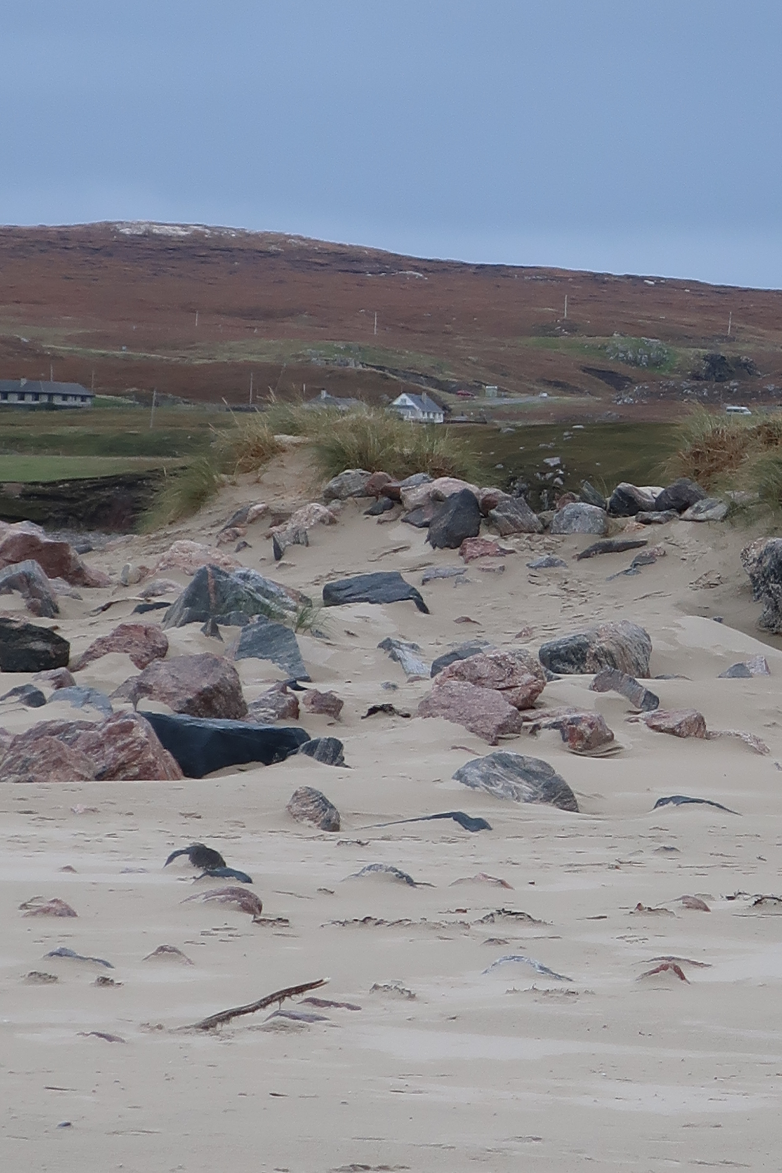 View from the beach in Uig