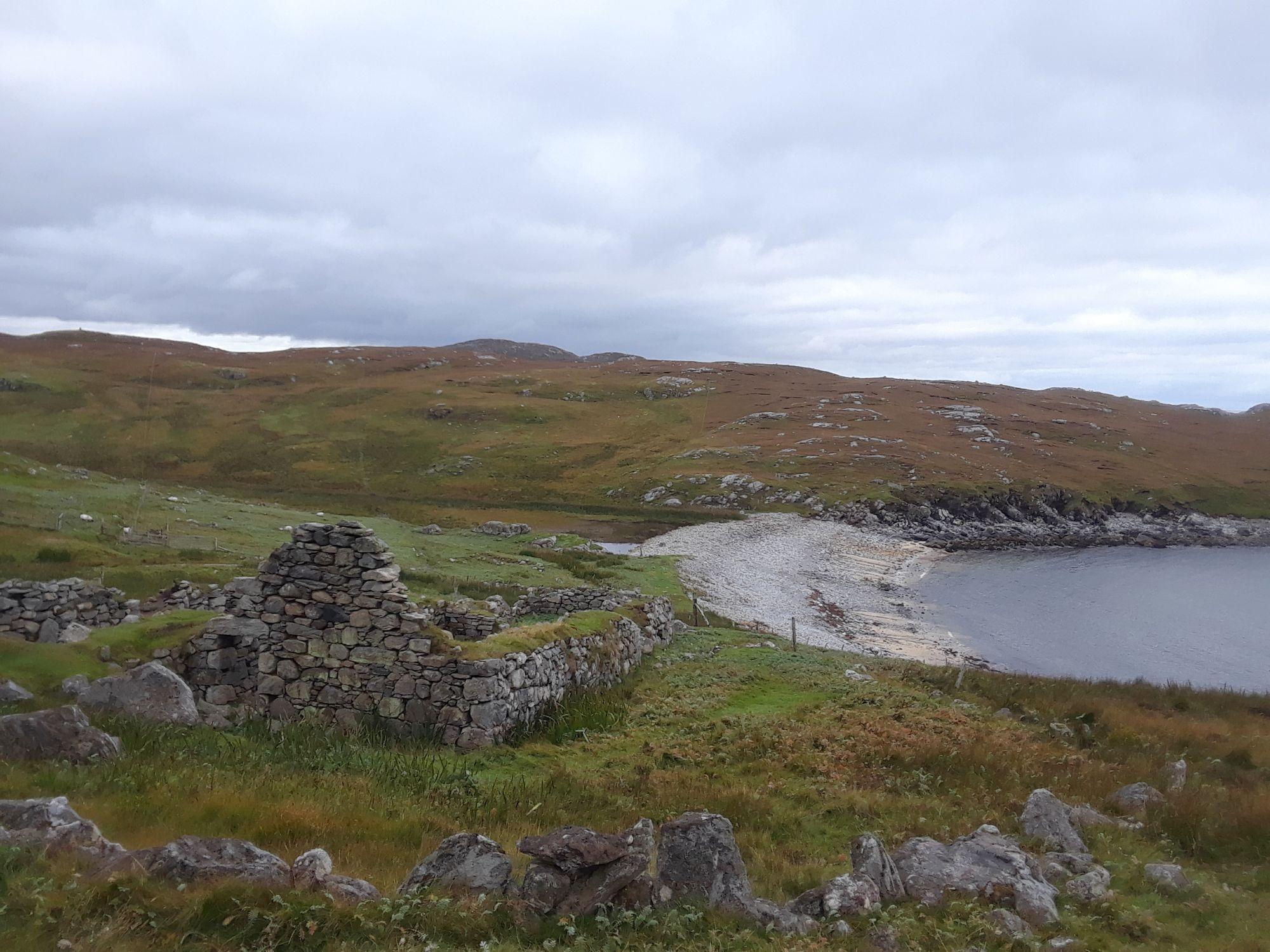 Ruins by the beach