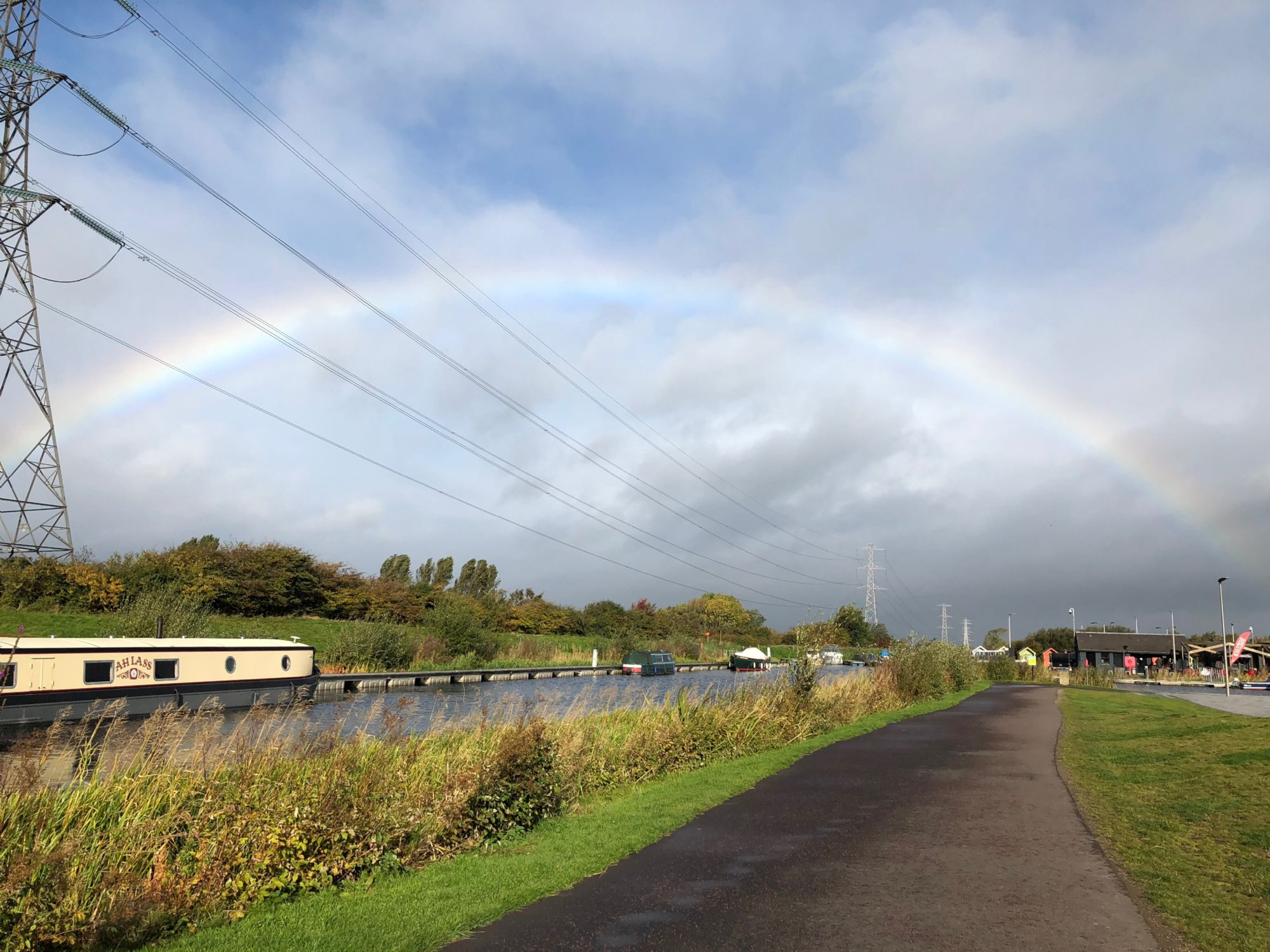 Rainbow over the canal