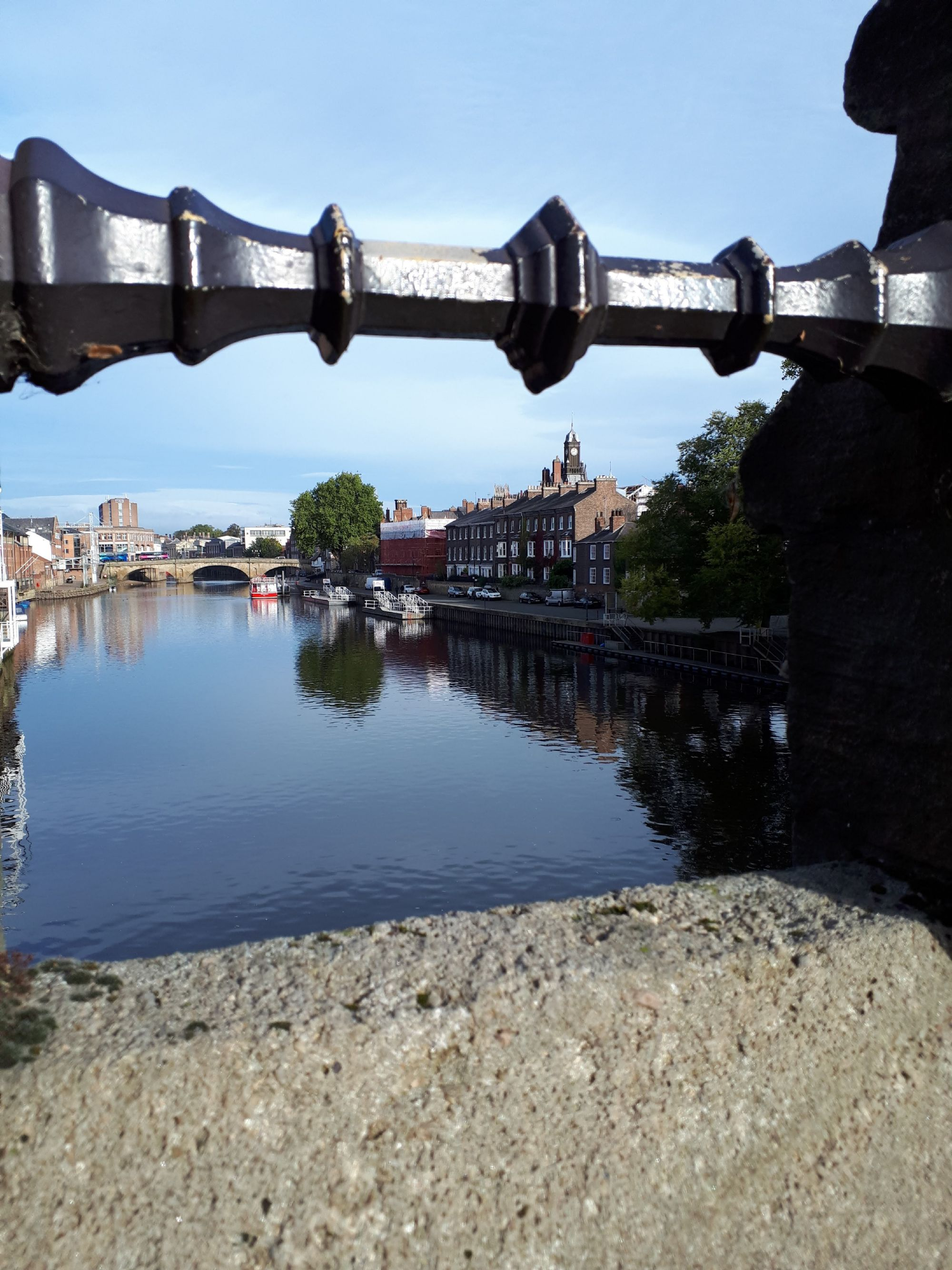 View from a bridge in York