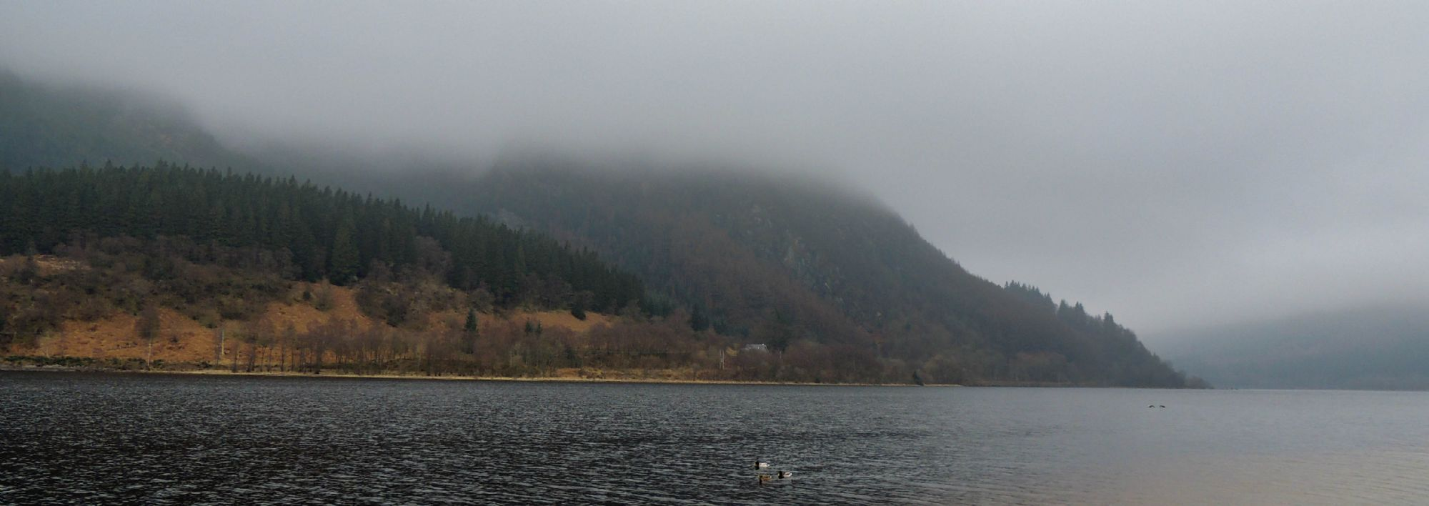 Loch Lomond in the clouds