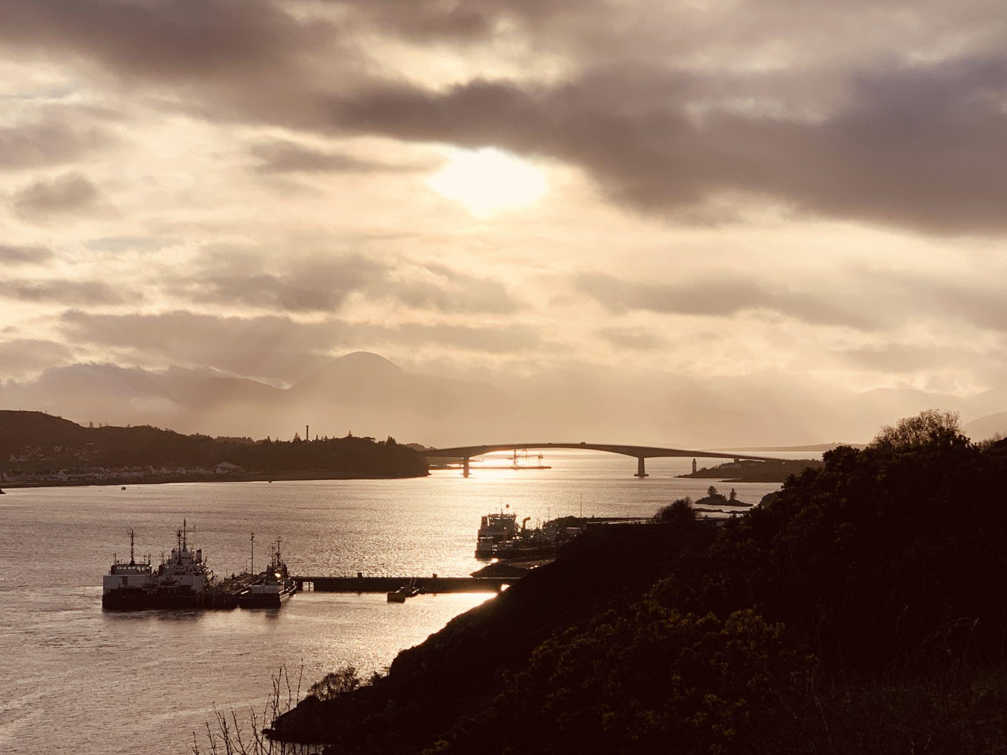 Skye Bridge silhouette