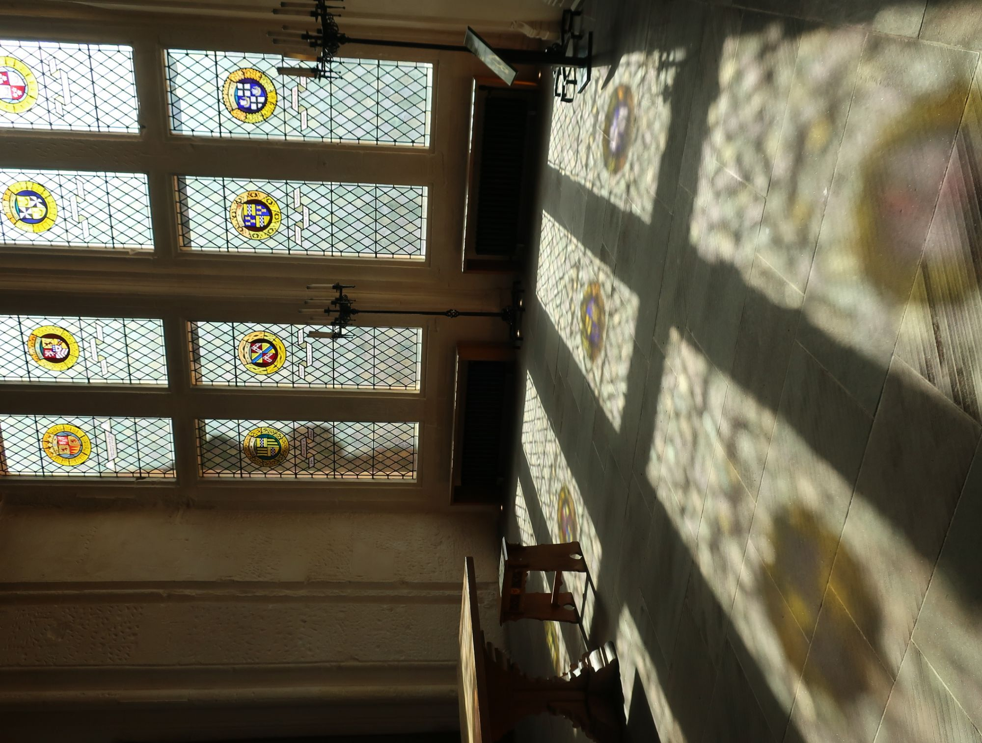 Stain glass in the castle