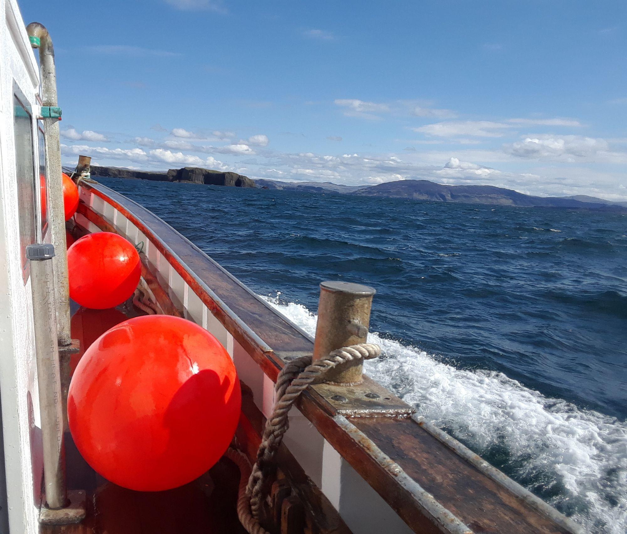 Approaching Staffa
