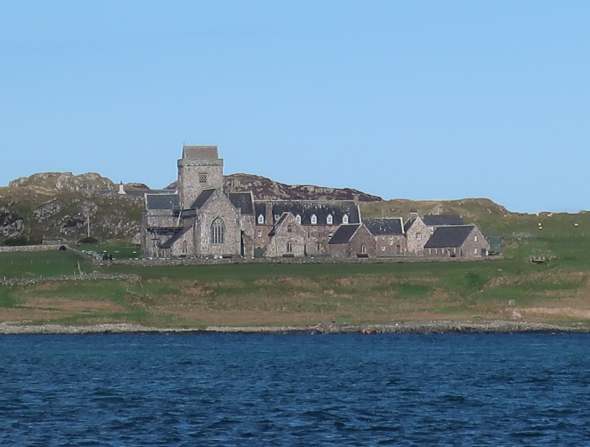 Iona Abbey from the water