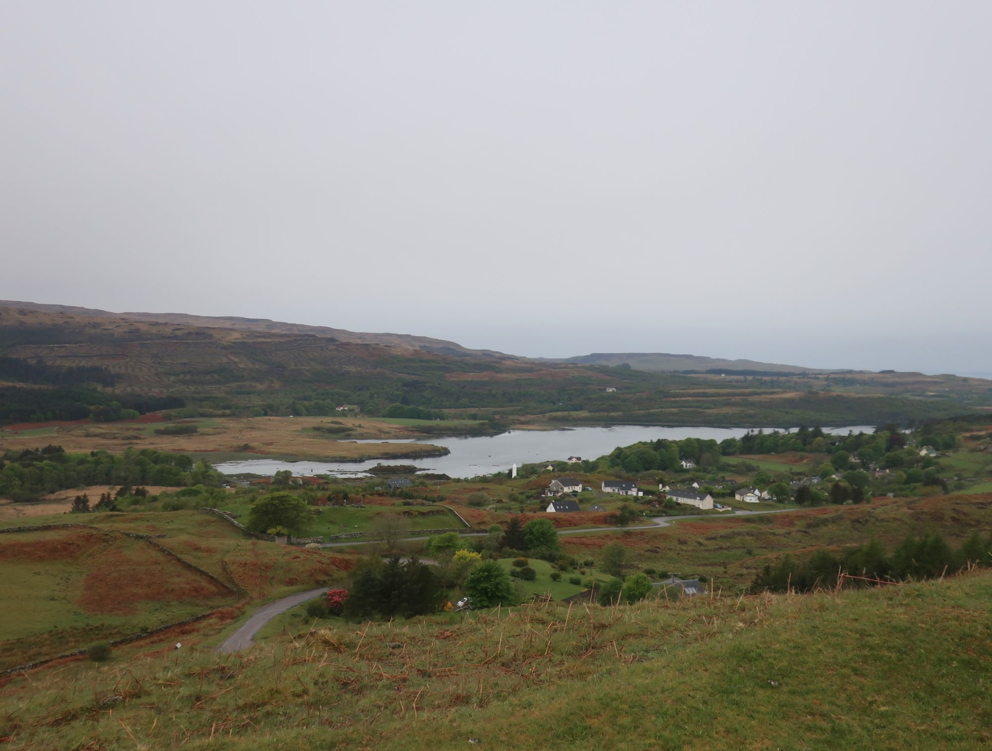 View from the standing stones