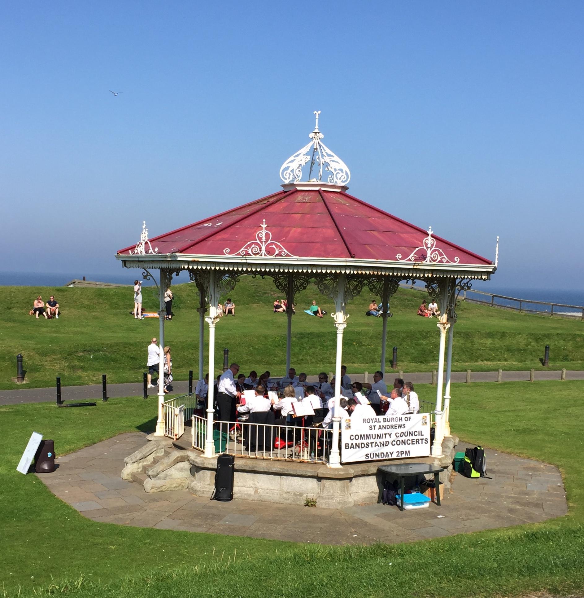St Andrews Brass Band in Gazeb