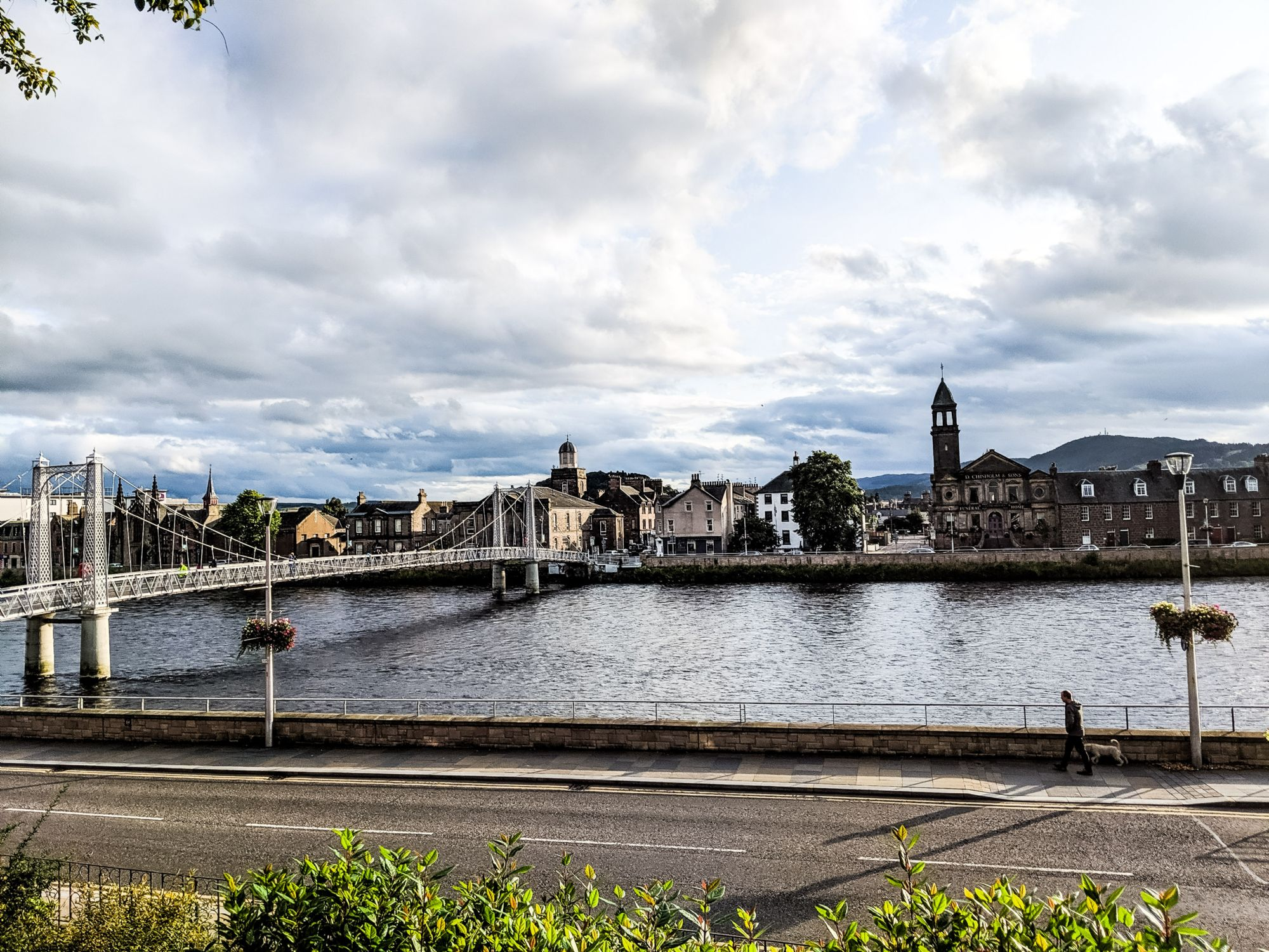 View of Inverness from cemeter